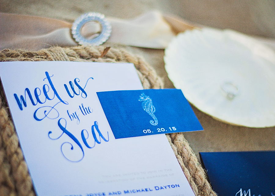 Nautical Wedding Invitations | Meet Us By The Sea