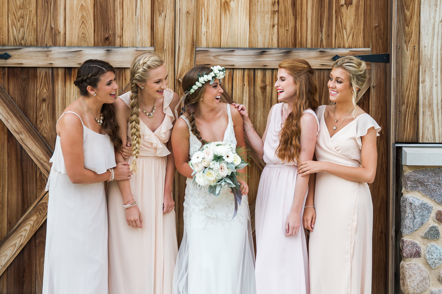 Blush Bridesmaid Dresses by Joanna August