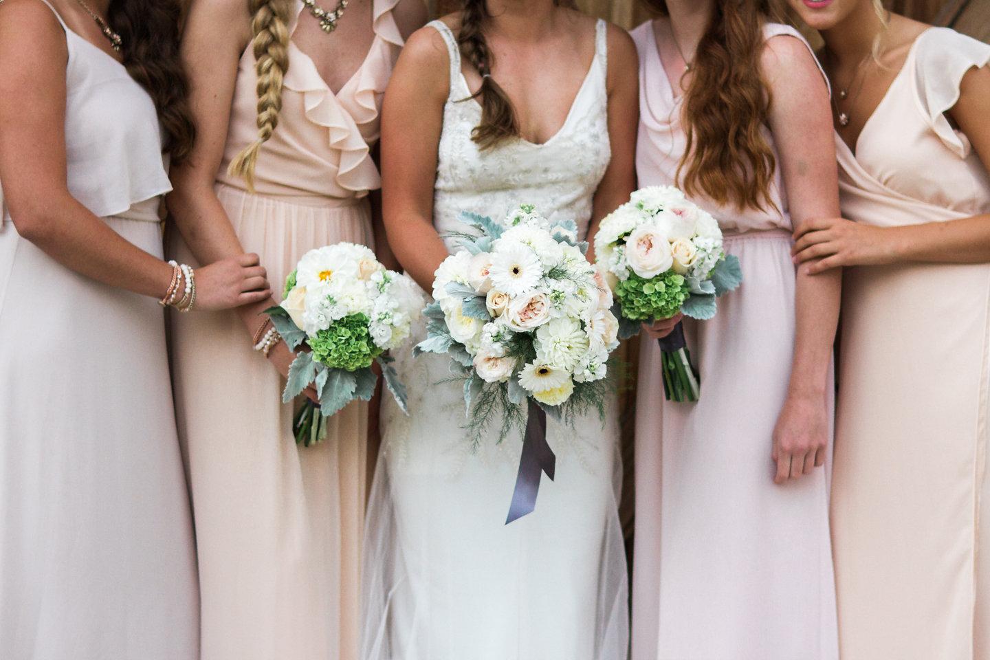 Blush and Peach Bridal Party