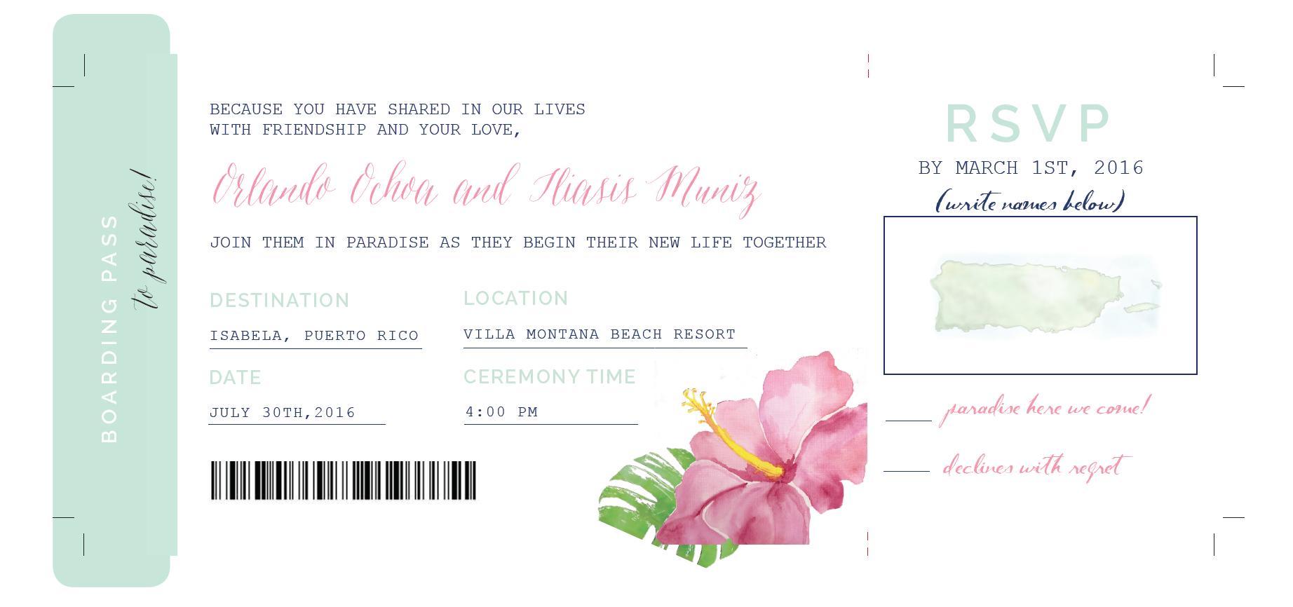 Destination Wedding Invitation | Wedding Stationery