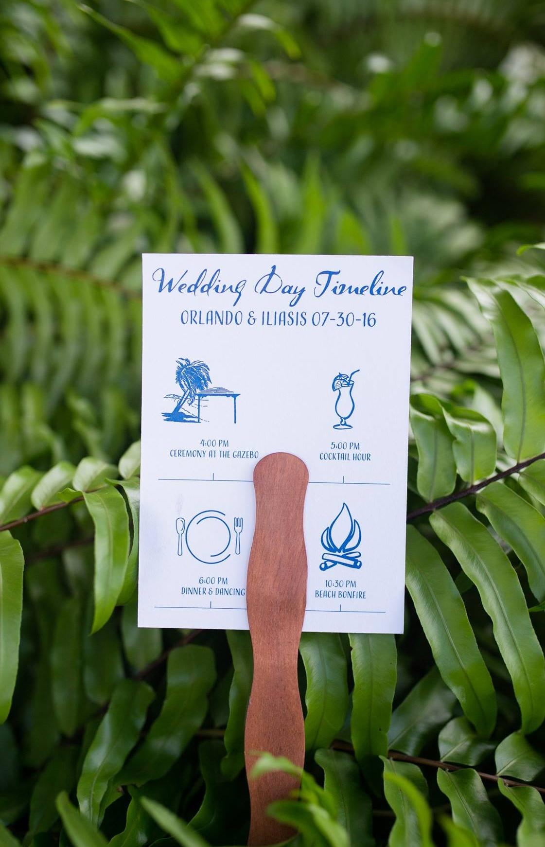 Wedding Fan | Wedding Timeline | Wedding Stationery