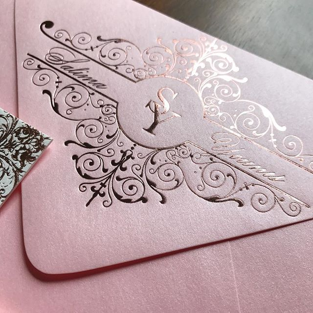 Tooting my own horn here... yeah this custom monogram I designed looks killer in rose gold foil!!! Thank @locuststpress for being such an awesome partner on making my vision become a reality! . . . . #custommade #custom #monogram #wedding #customstationery #stationery #rosegold #gorgeous #bridal #bride