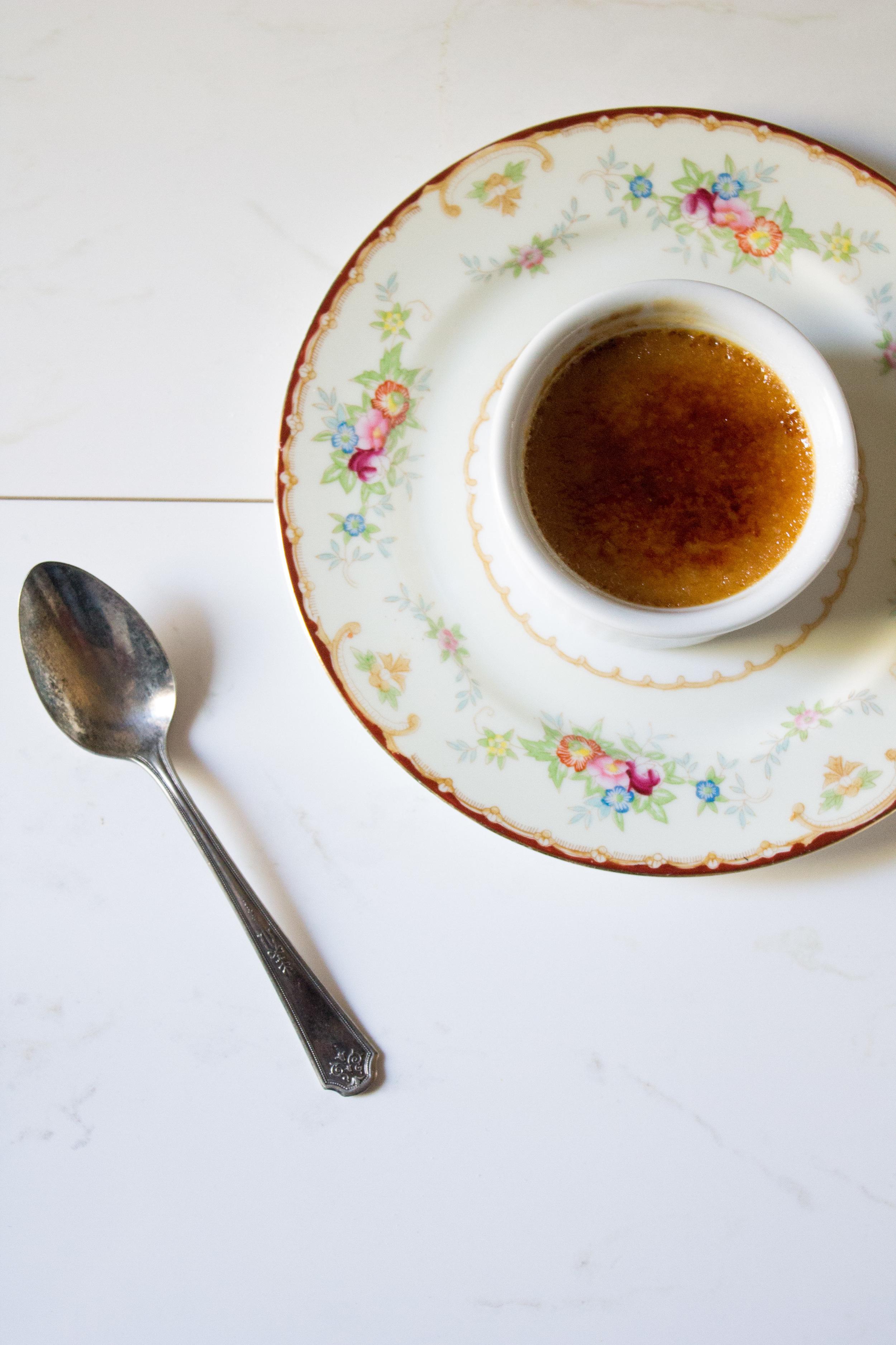 Bourbon Caramel Creme Brulee {Pedantic Foodie}