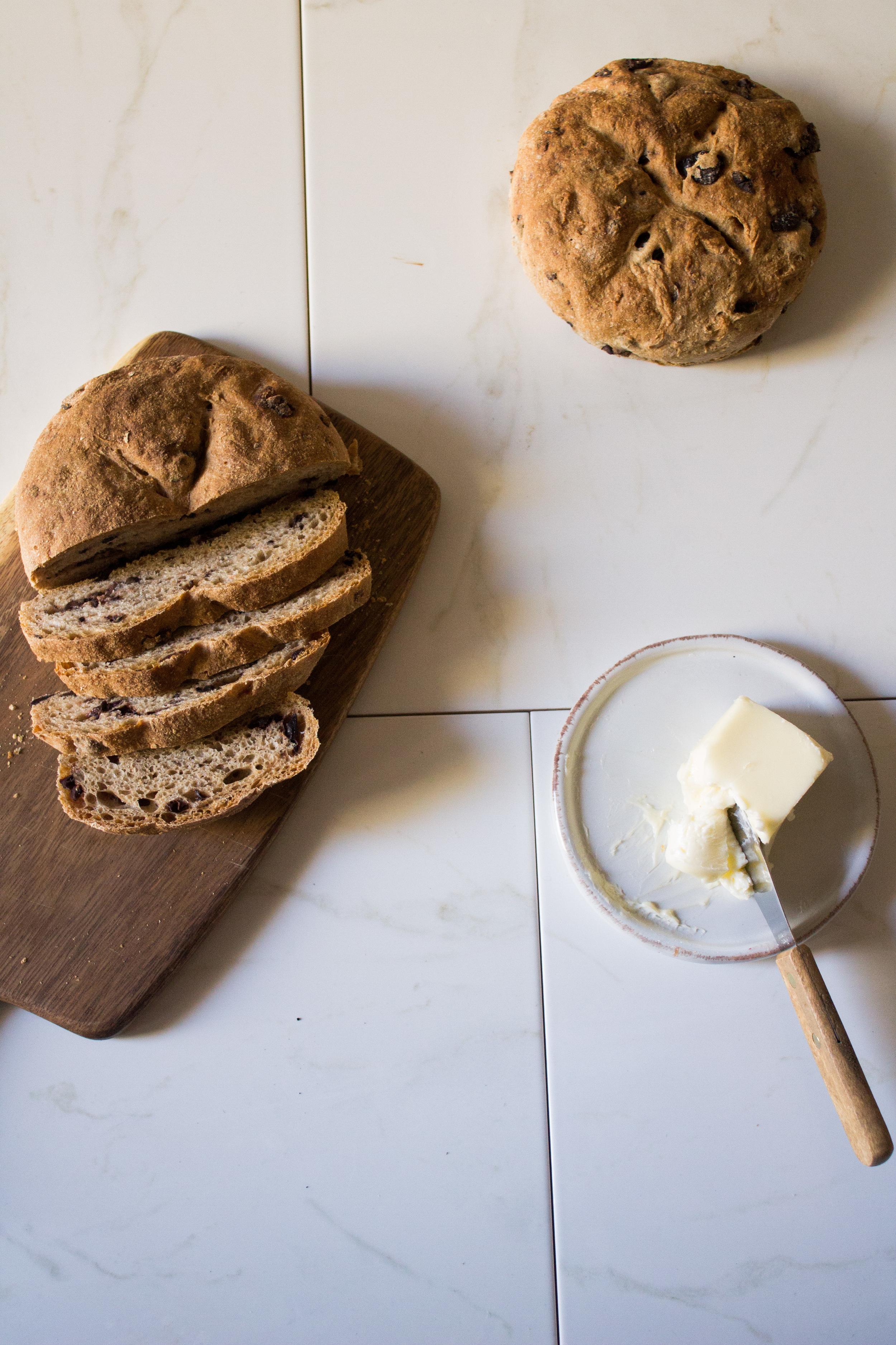 Rustic Olive Bread {Pedantic Foodie}