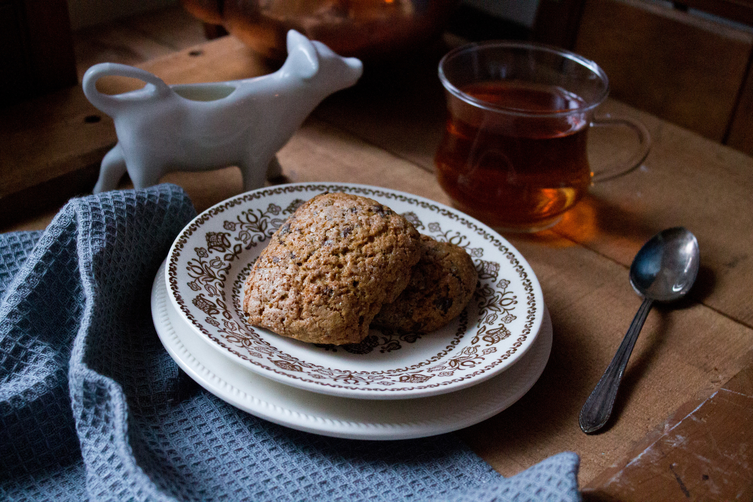Gingerbread Scones with Dark Chocolate and Orange {Pedantic Foodie}