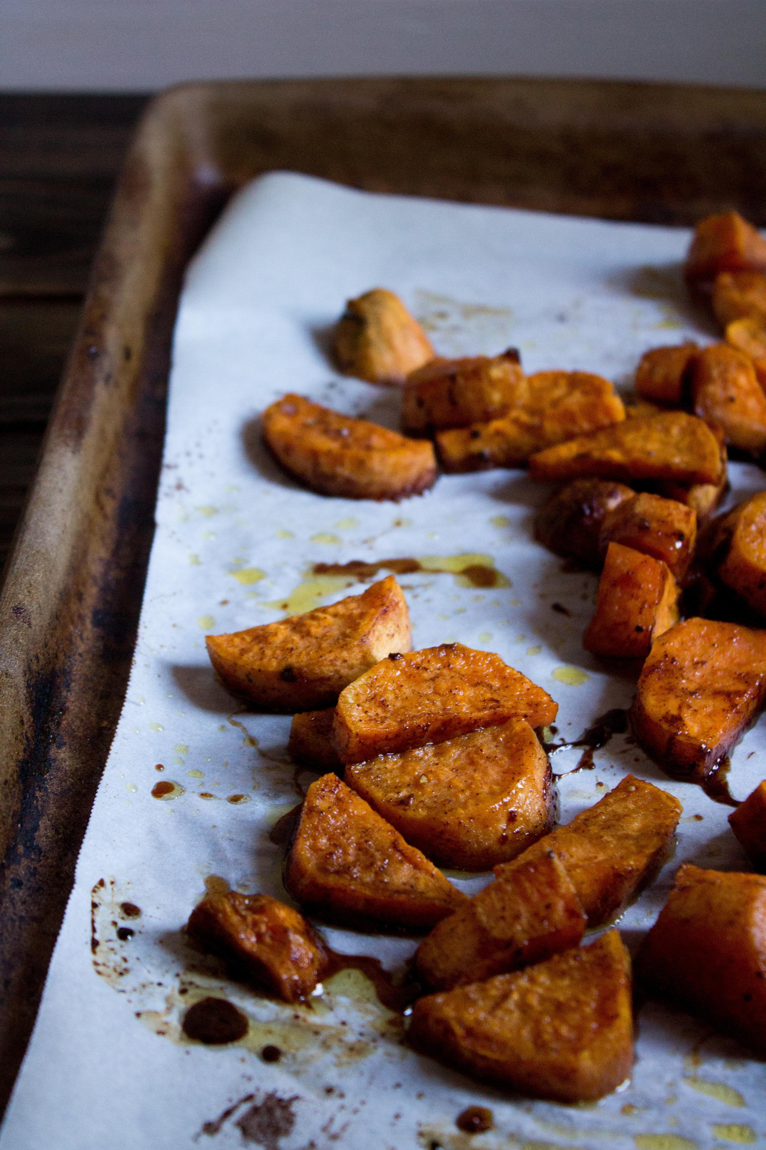 Sweet Potato - Apple Salad {Pedantic Foodie}