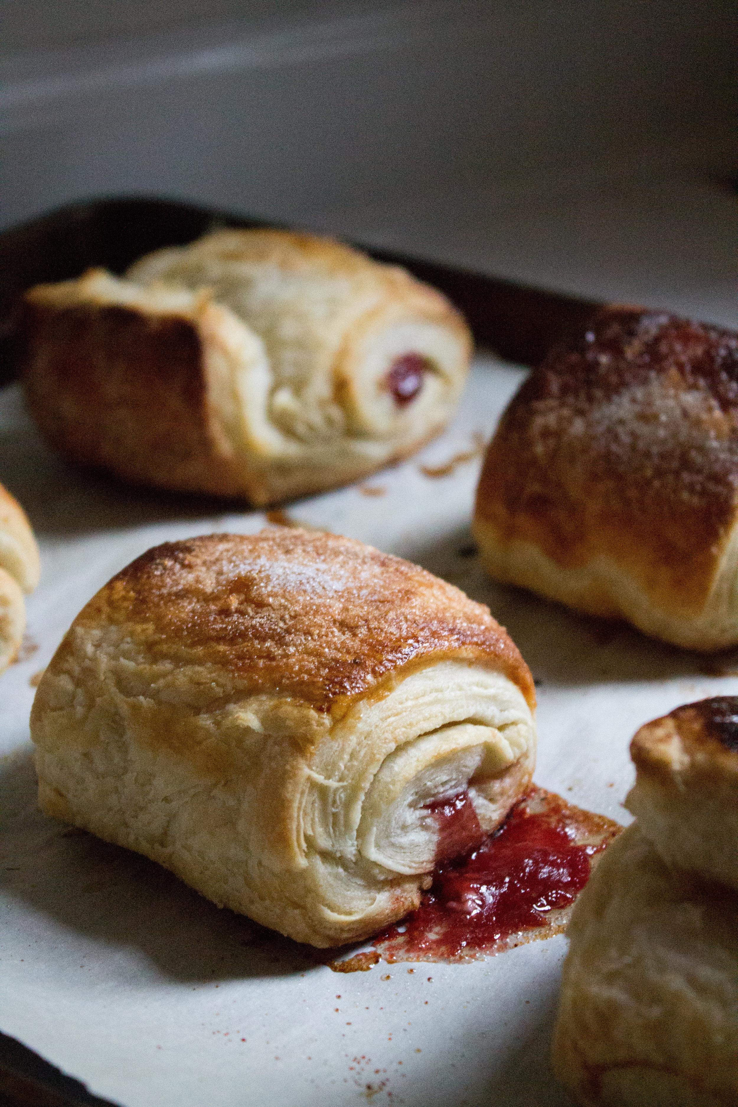 Raspberry Cream Cheese Croissants {Pedantic Foodie}