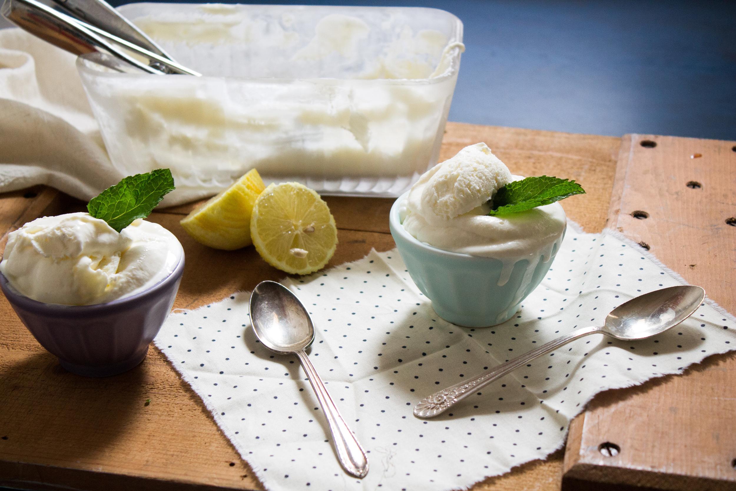 Lemon Mint Sherbet {Pedantic Foodie}