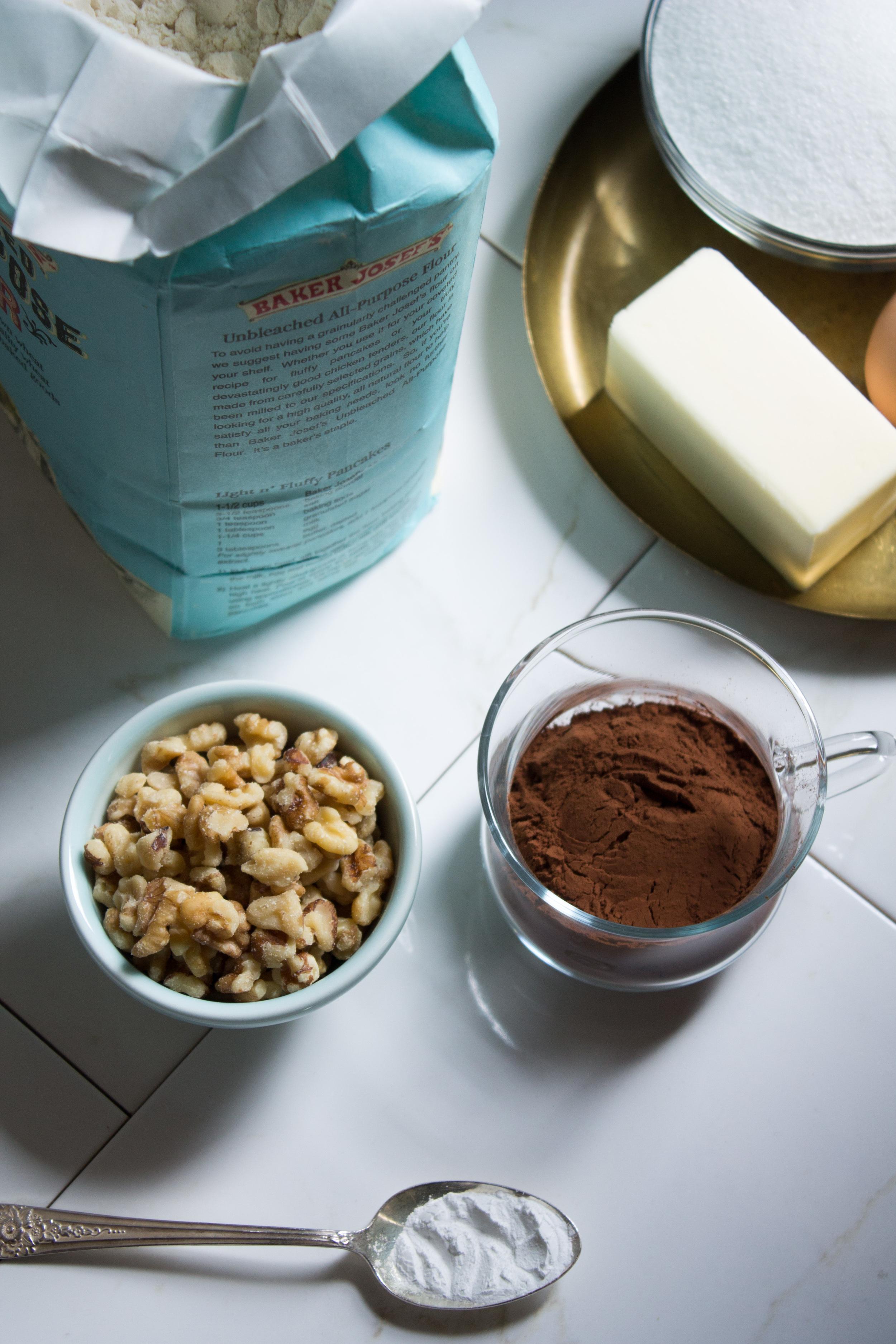 Classic Walnut Brownies {Pedantic Foodie}