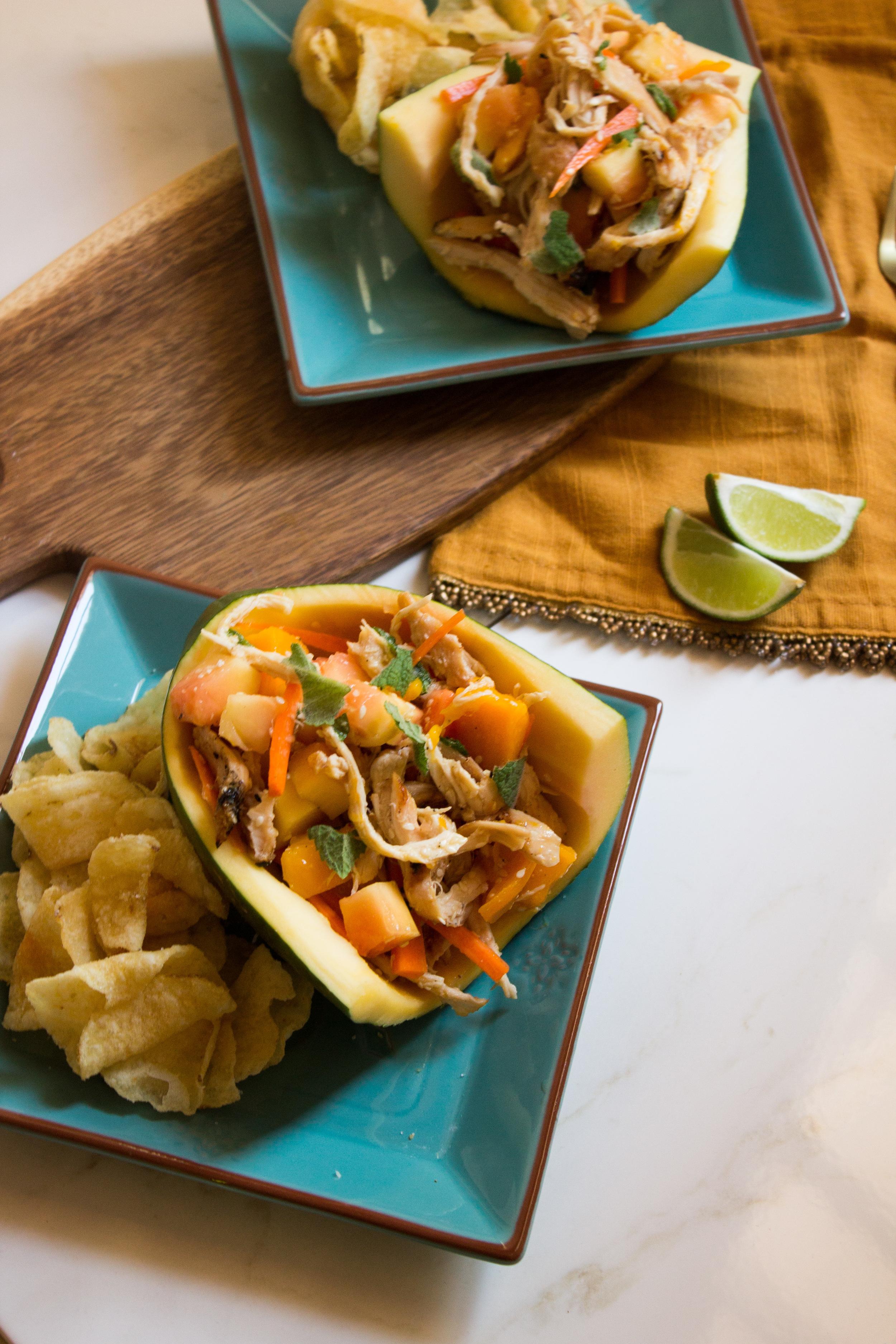 Papaya Chicken Salad {Pedantic Foodie}