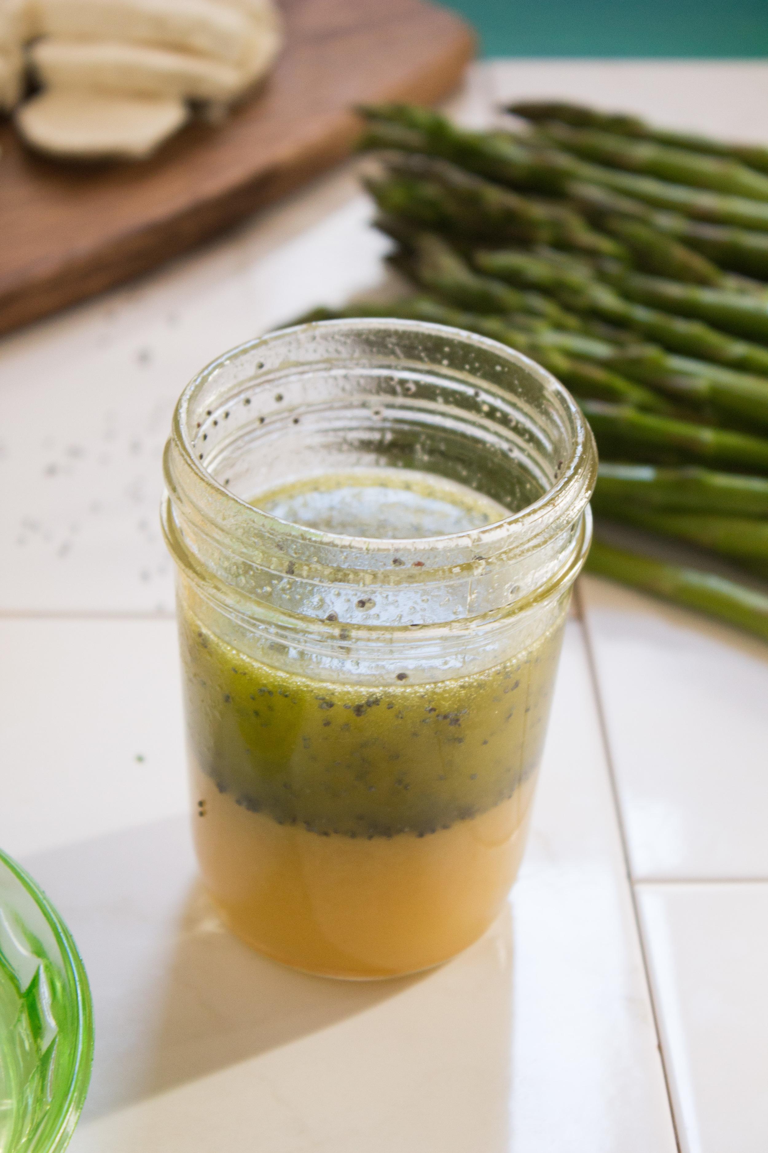 Asparagus Salad with Lemon Poppyseed Vinaigrette {Pedantic Foodie}