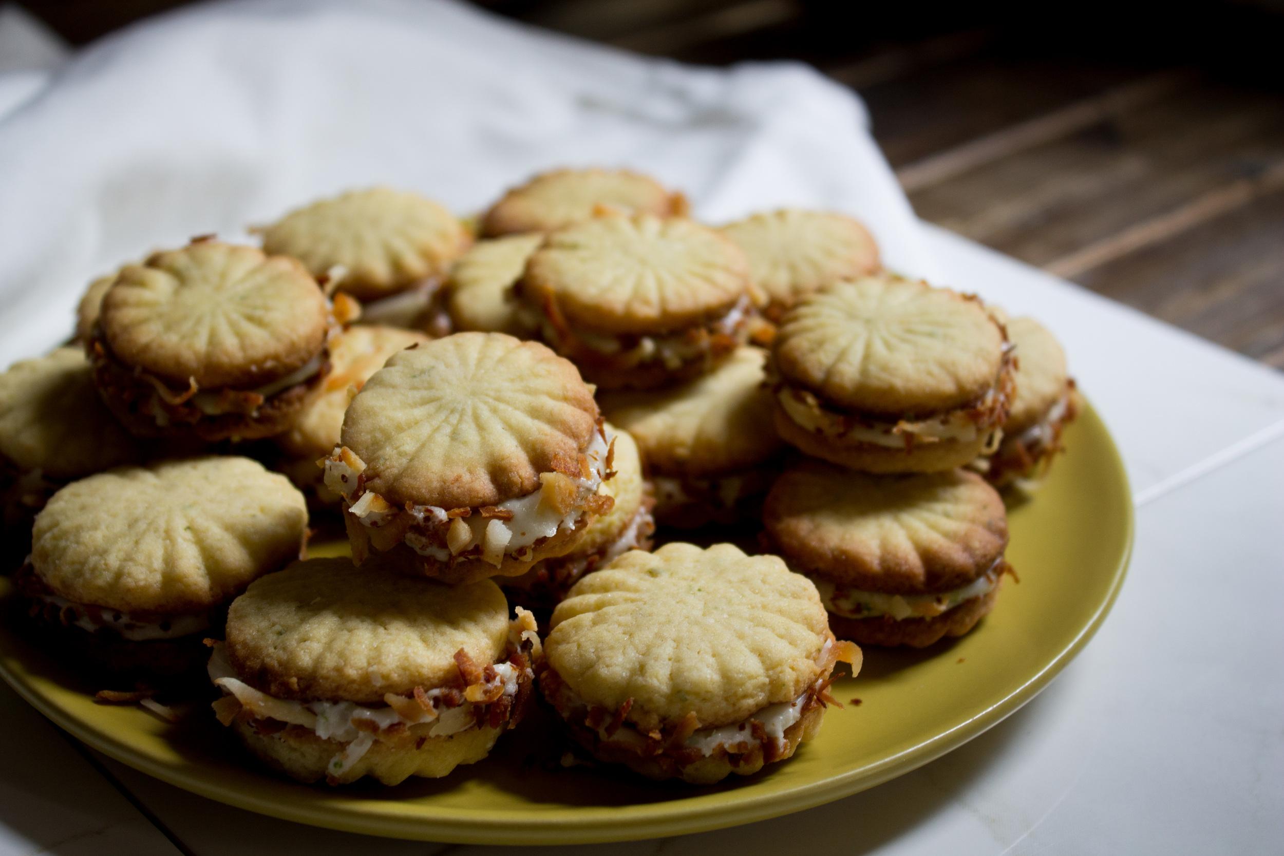 Coconut Lime Sandwich Cookies {Pedantic Foodie}