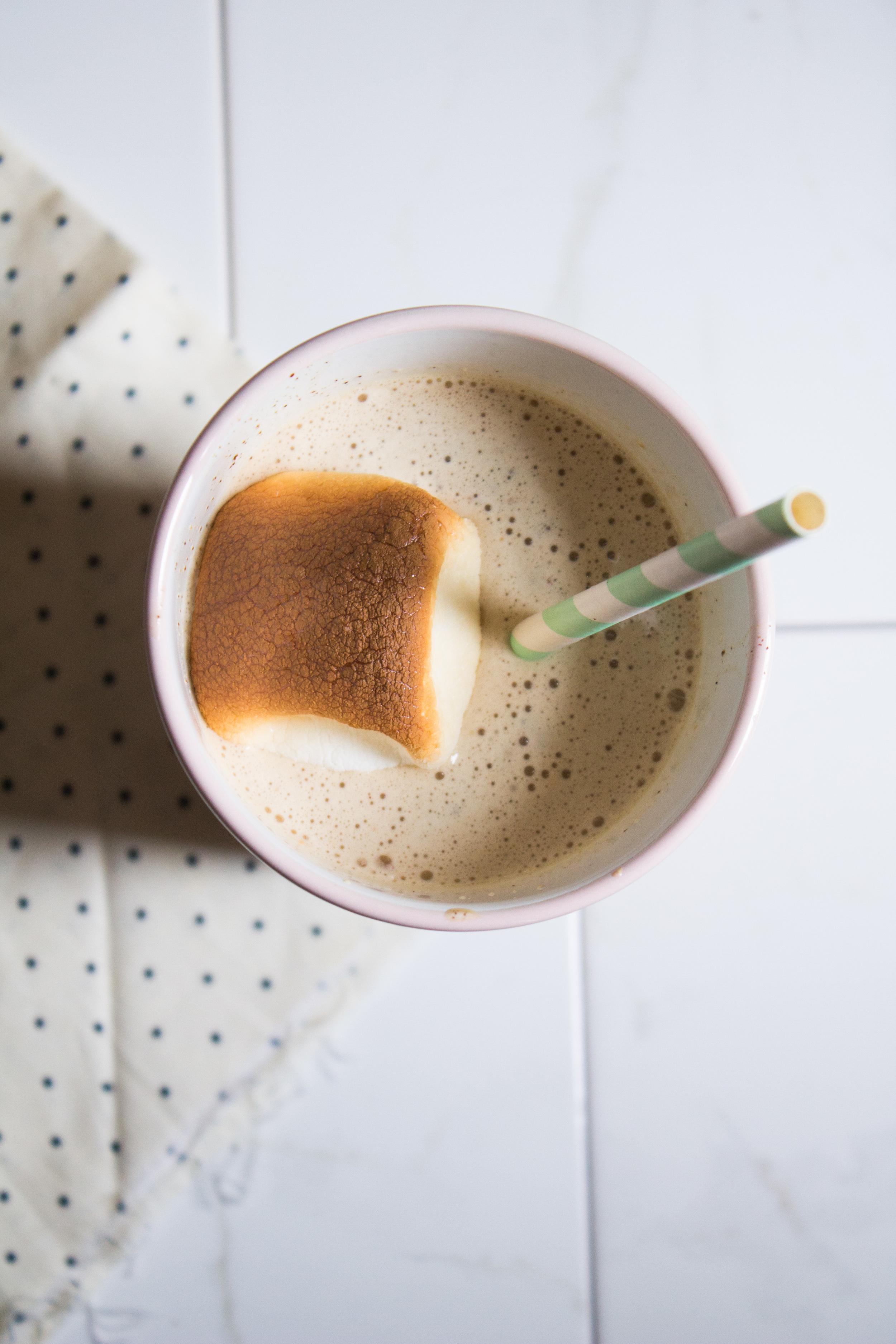 Toasted Marshmallow Milkshakes {Pedantic Foodie}