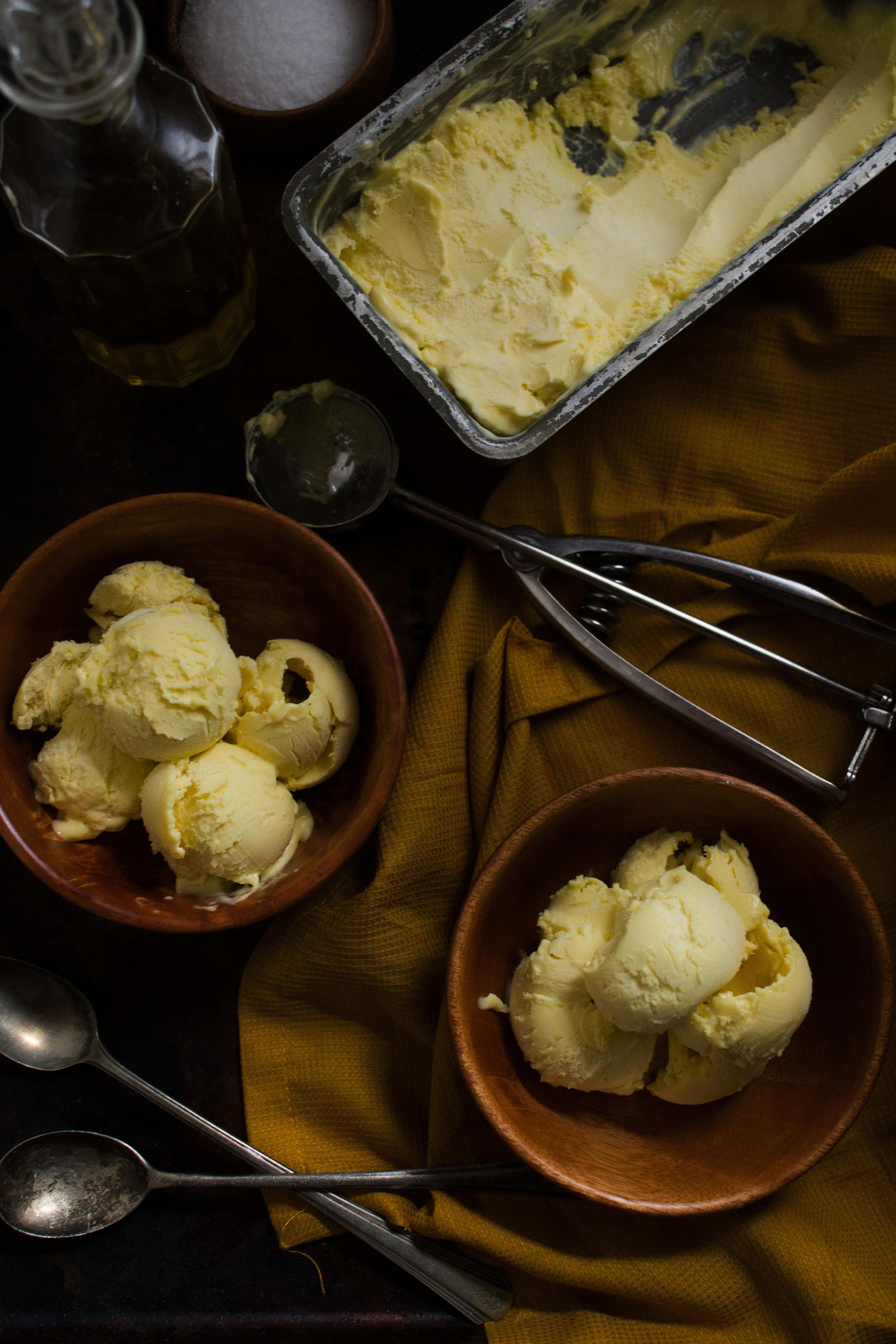 Olive Oil Ice Cream {Pedantic Foodie}