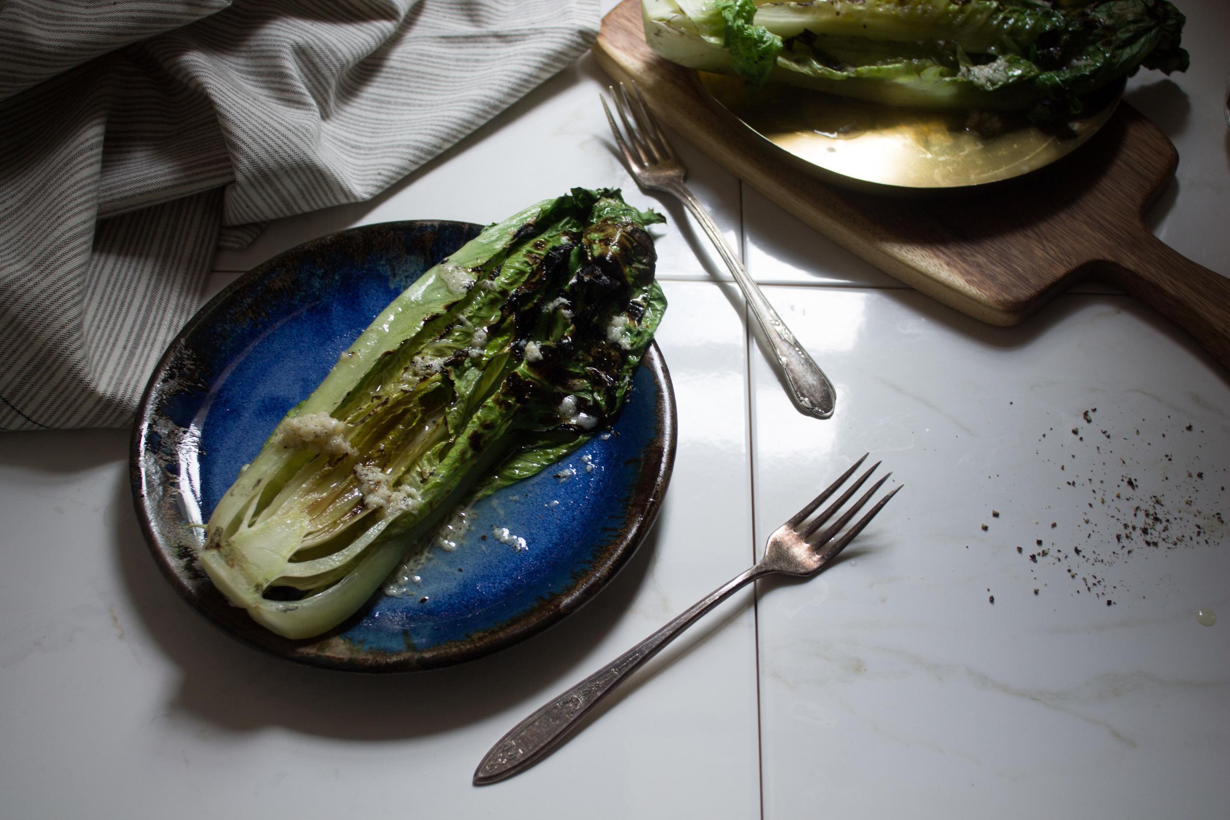 Grilled Romaine Salad {Pedantic Foodie}