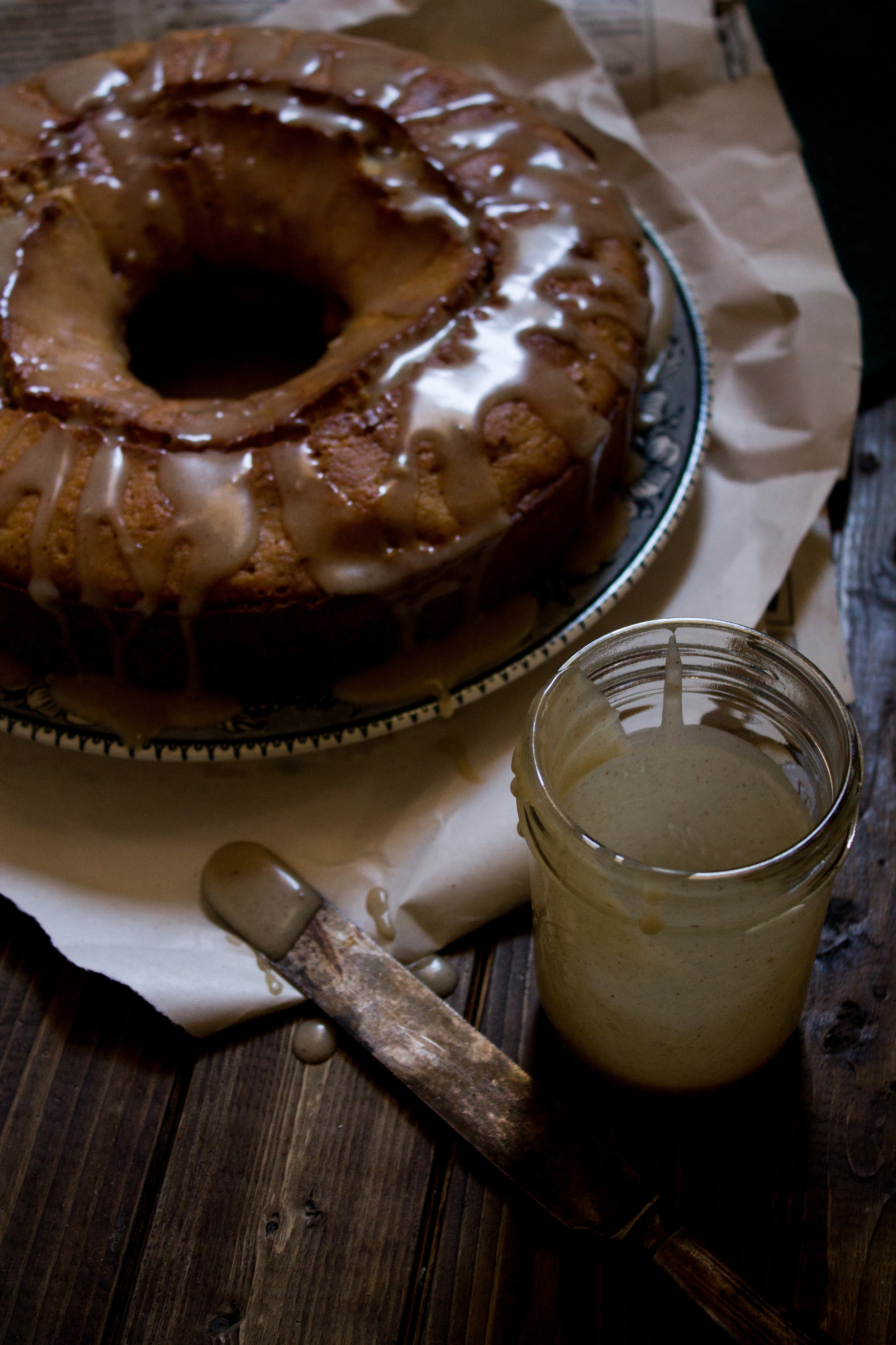 Roasted Pear and Rosemary Cake with Brown Butter Glaze {Pedantic Foodie}