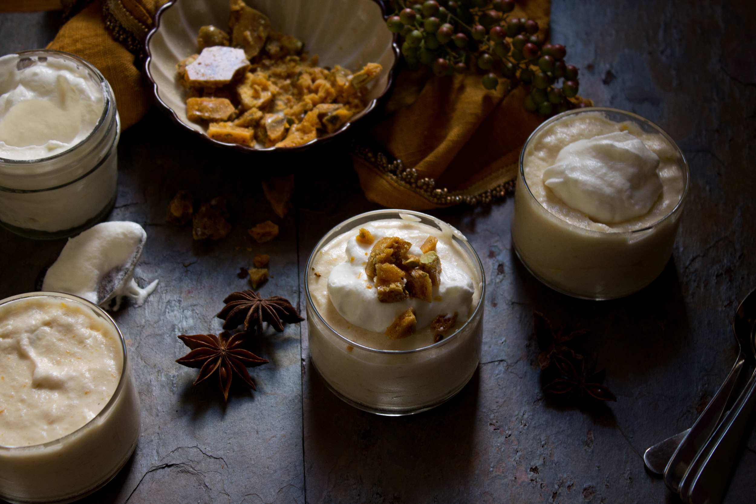 Maple and Anise Mousse with Salted Pistachio Brittle {Pedantic Foodie}