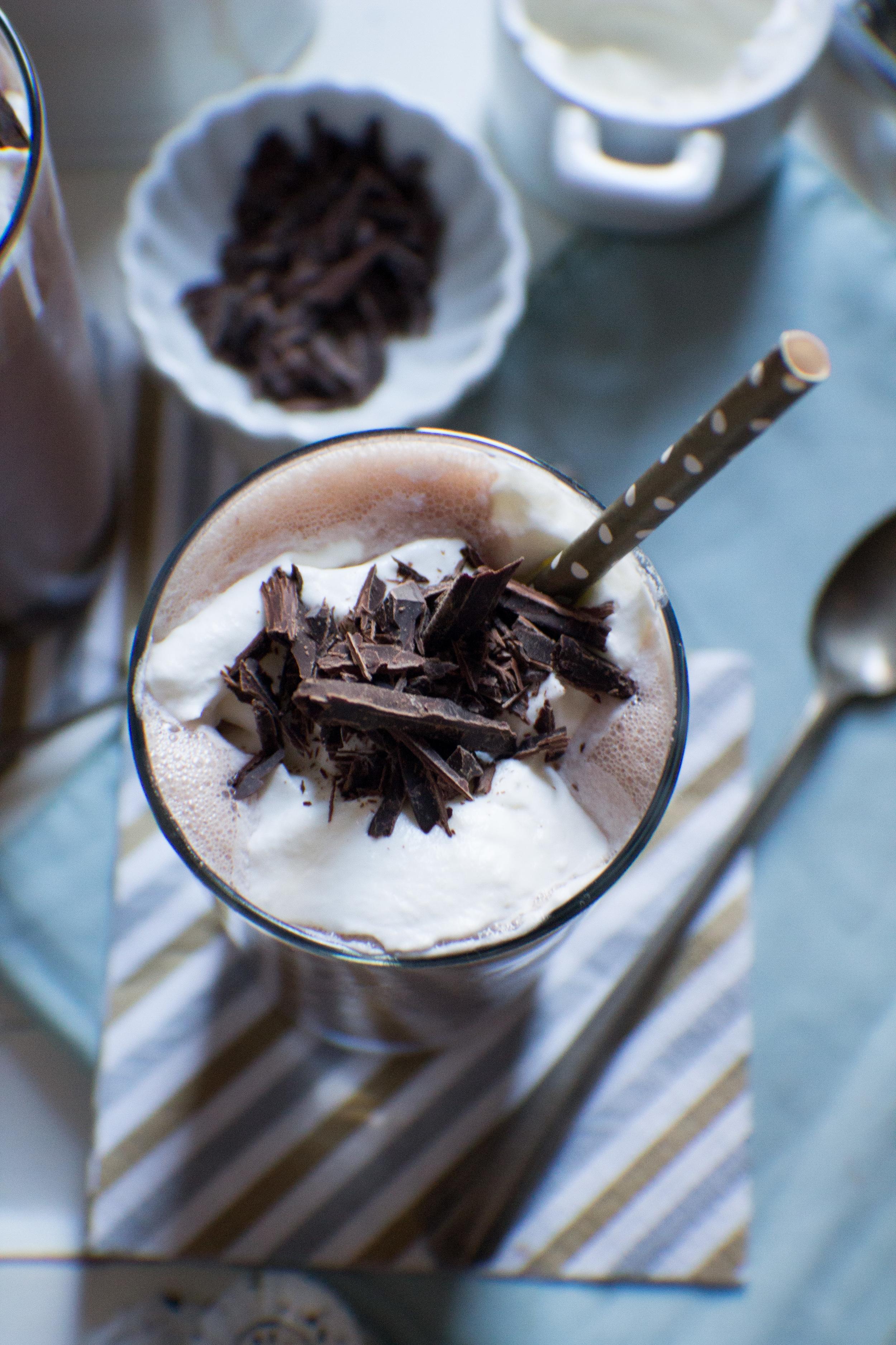 Mint Chocolate Malts {Pedantic Foodie}
