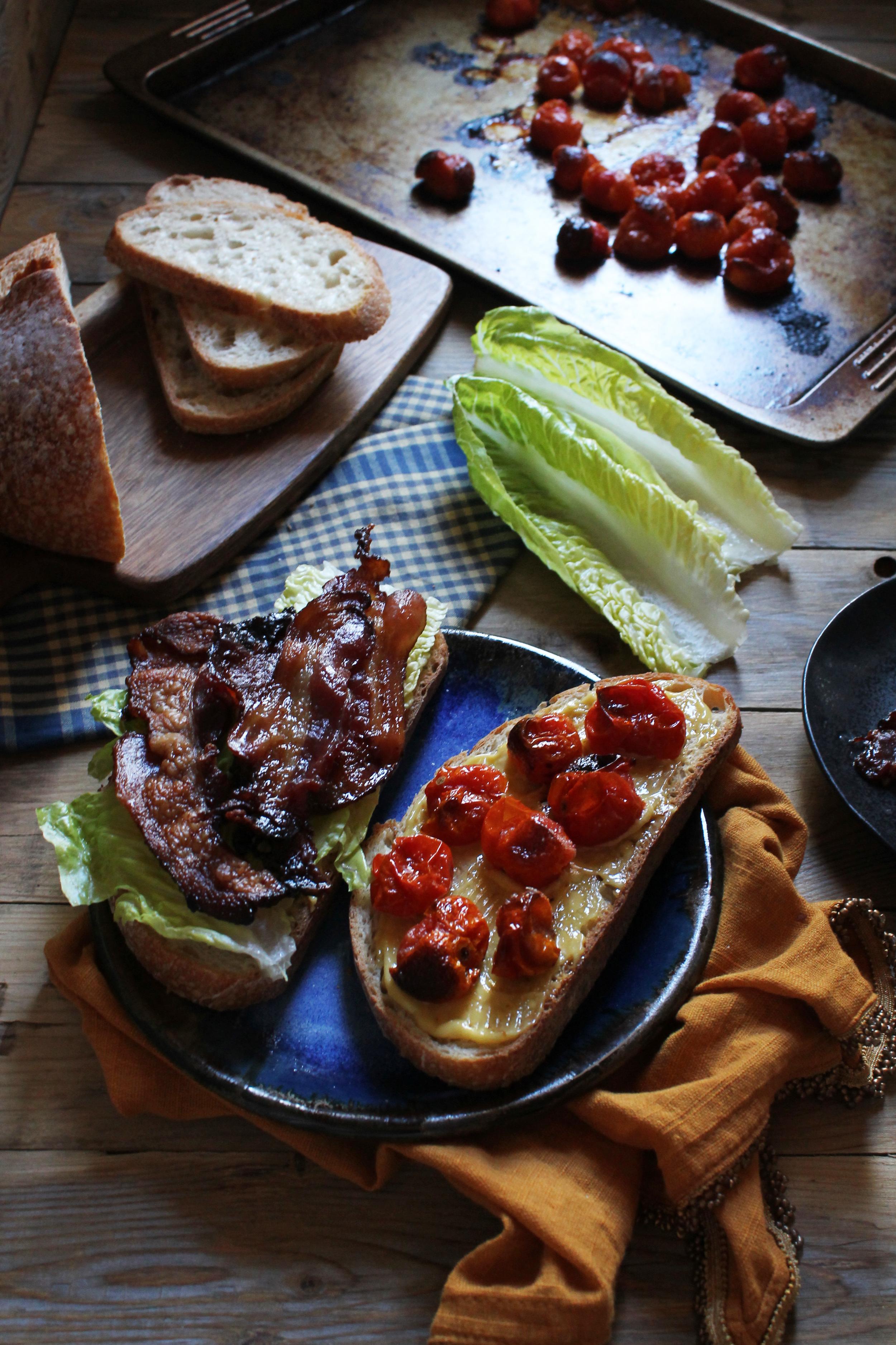 Roasted Tomato BLT with Roasted Garlic Mayonnaise {Pedantic Foodie}