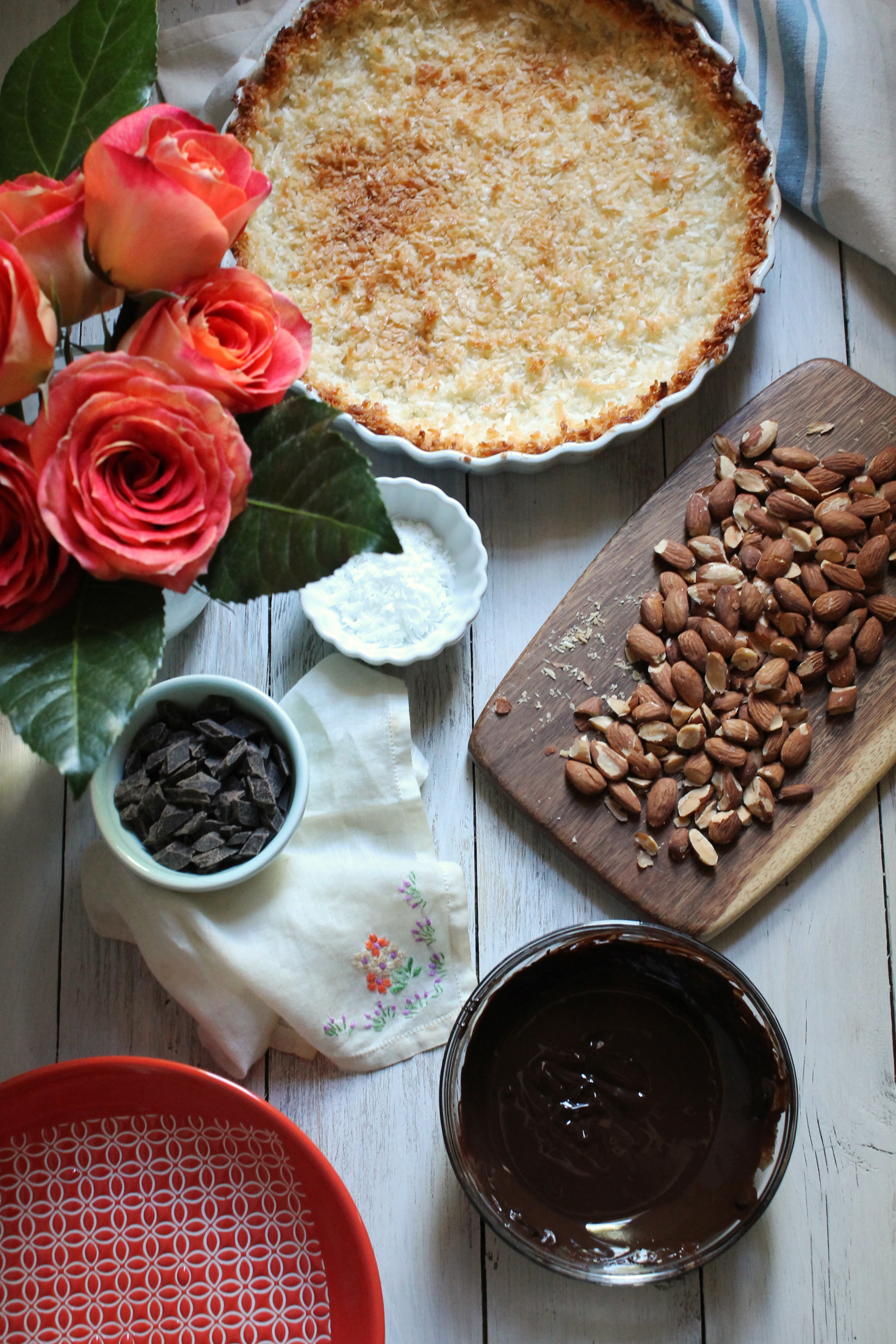 Chocolate Covered Almond Macaroon Pie {Pedantic Foodie}