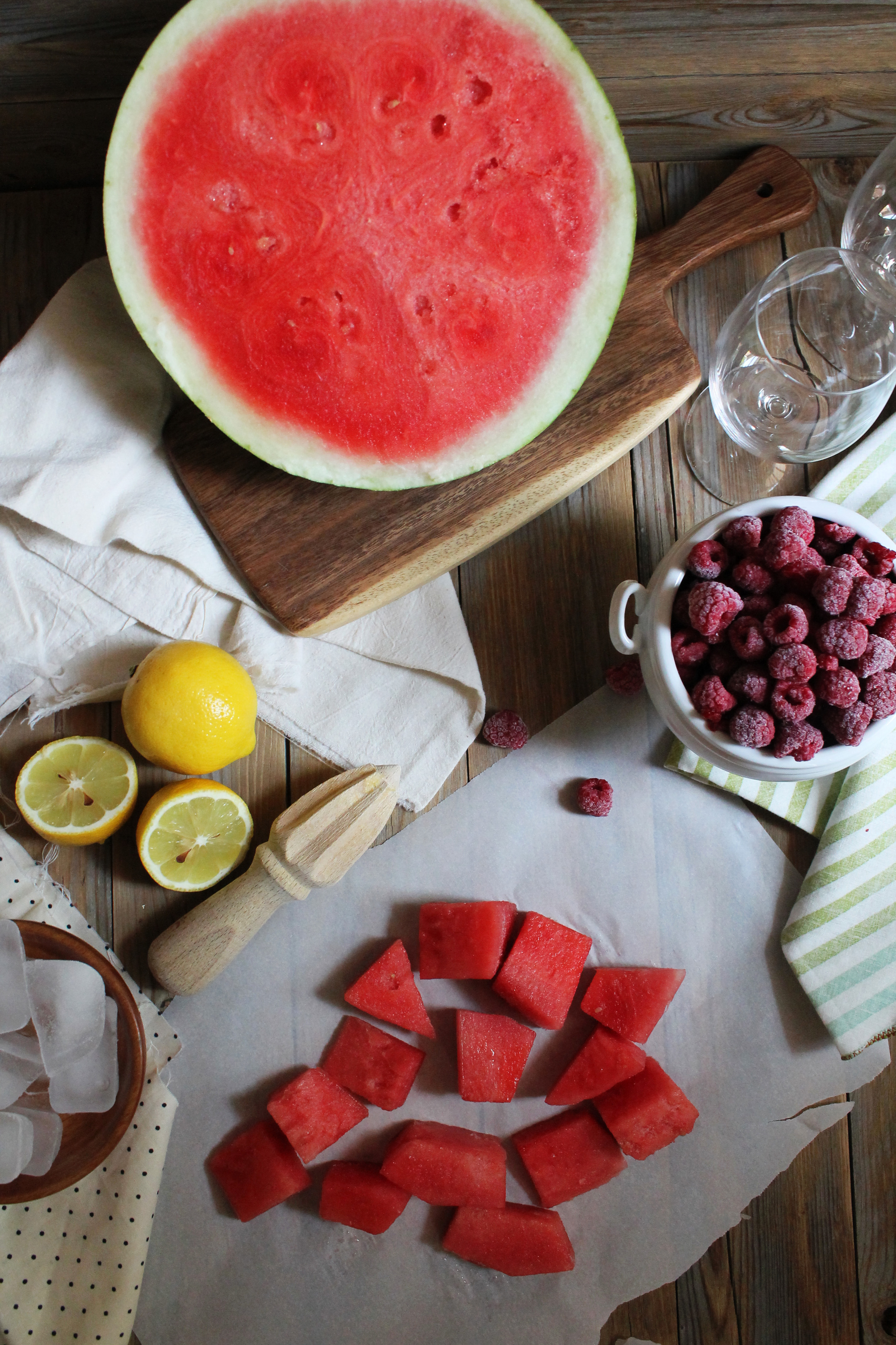 Watermelon & Raspberry Lemon Slushie {Pedantic Foodie}
