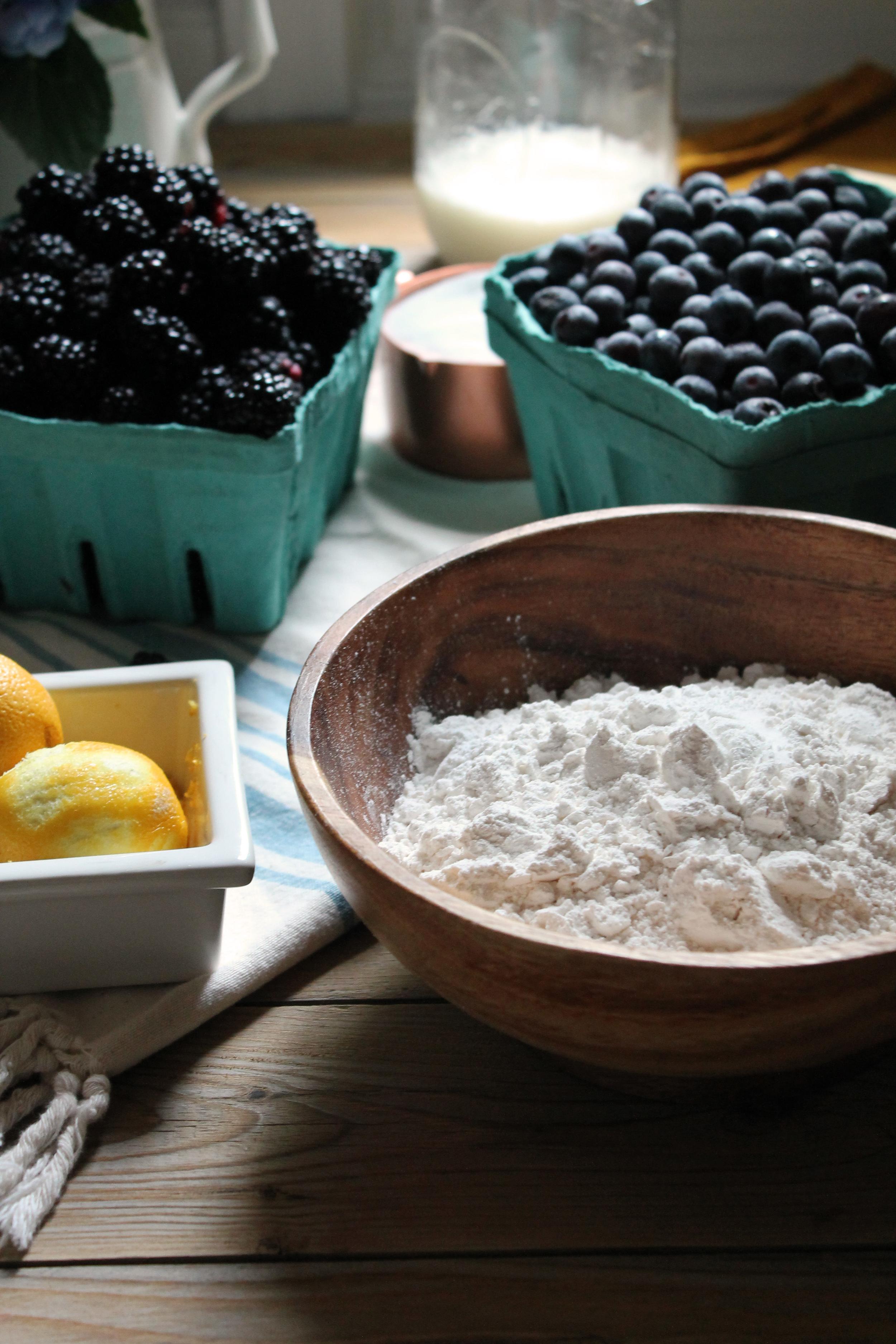 Mixed Berry Lemon Breakfast Cake {Pedantic Foodie}