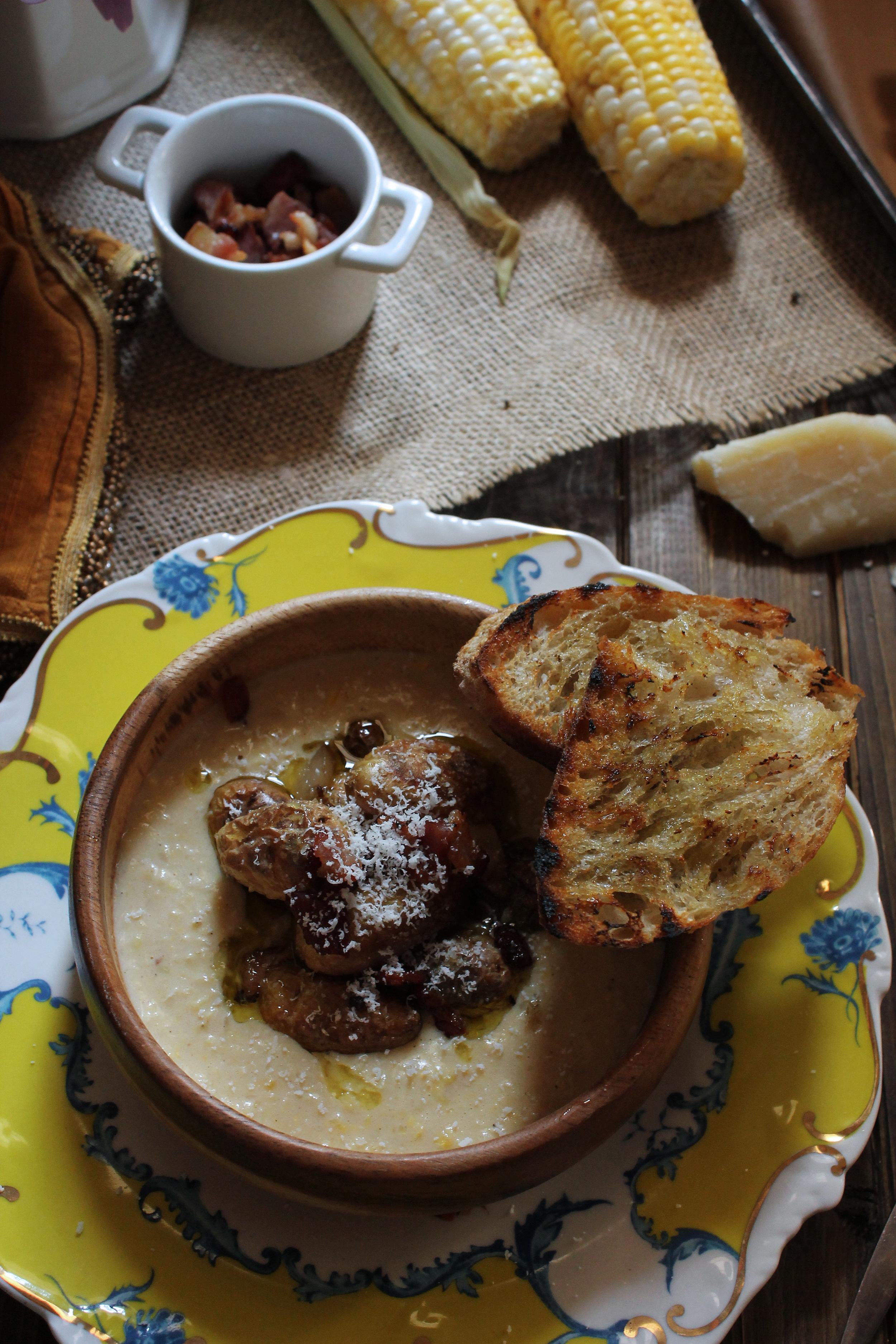 Creamy Sweet Corn Bisque {Pedantic Foodie}