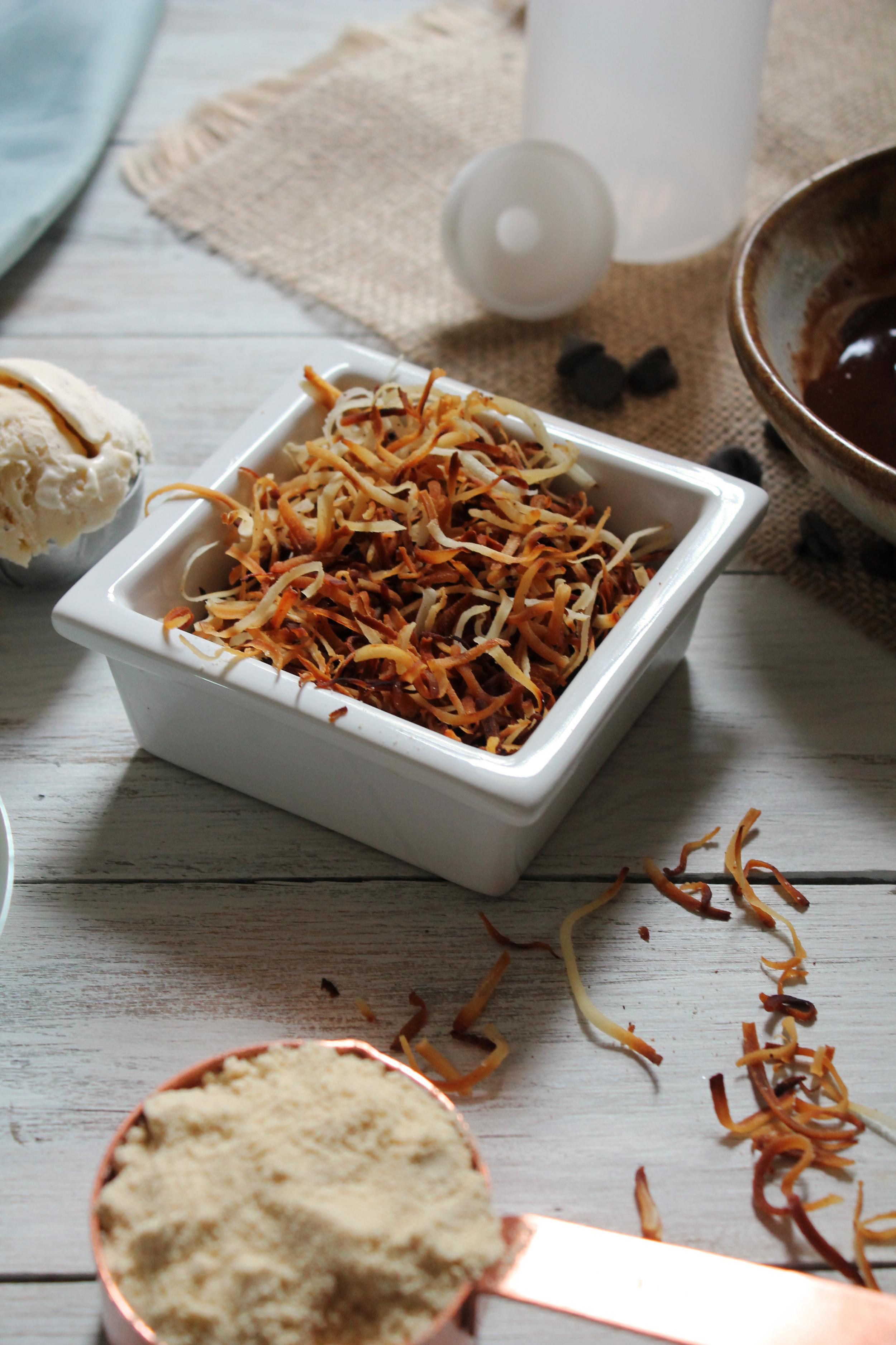 Toasted Coconut Fudge Malt {Pedantic Foodie}