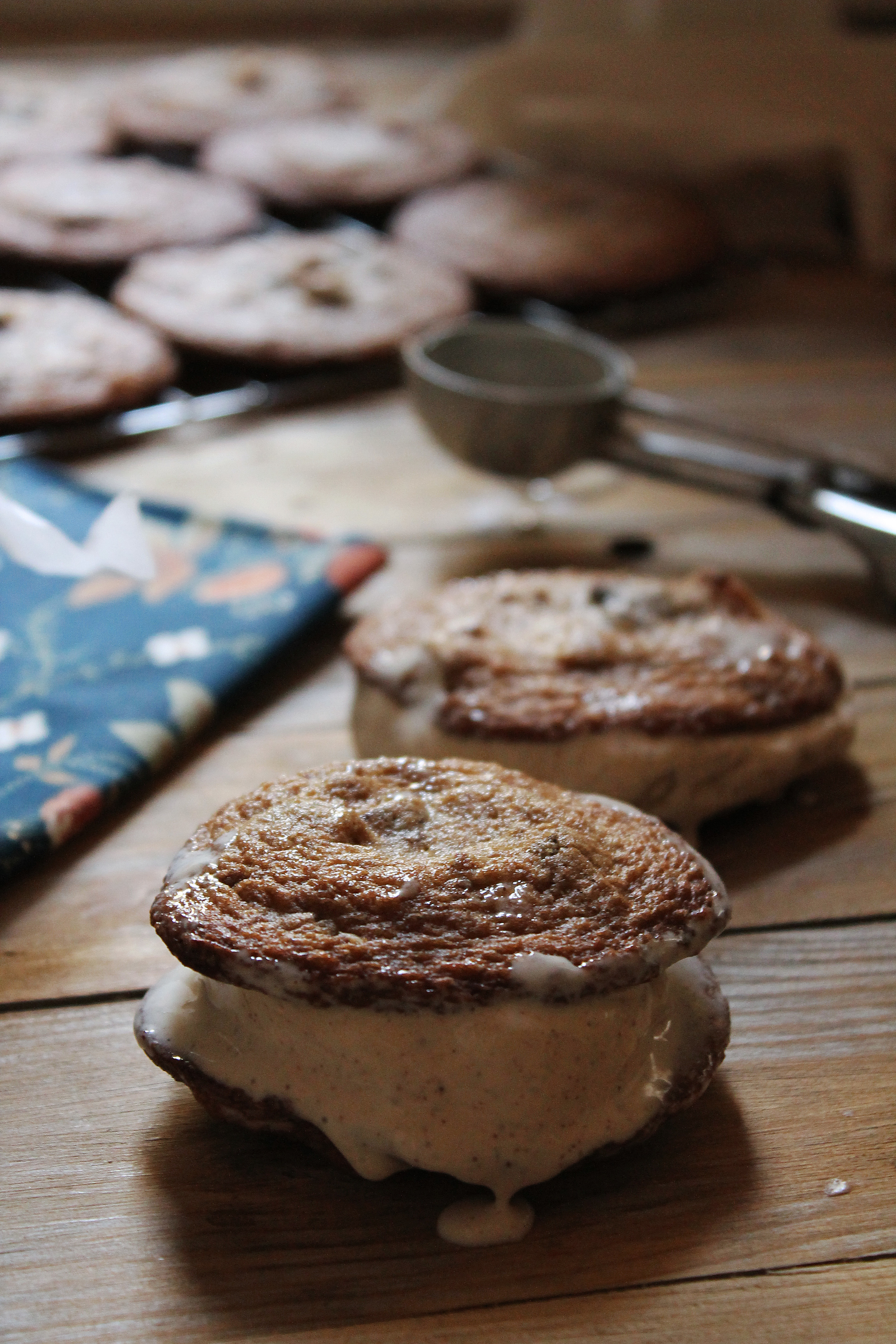Cherry Hazelnut Ice Cream Sandwiches {Pedantic Foodie}