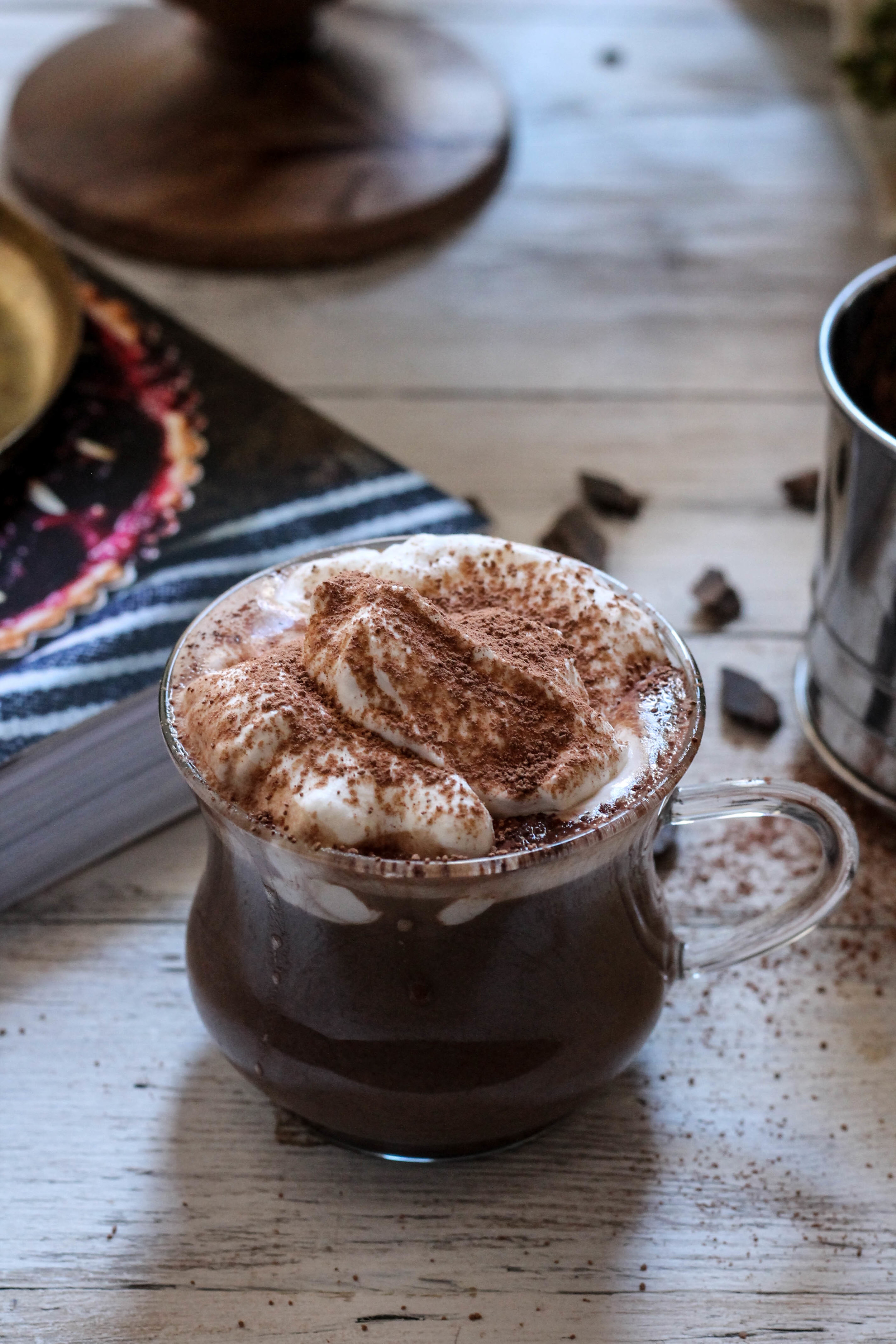 Spicy Pumpkin Hot Chocolate from The Homemade Kitchen {The Pedantic Foodie}