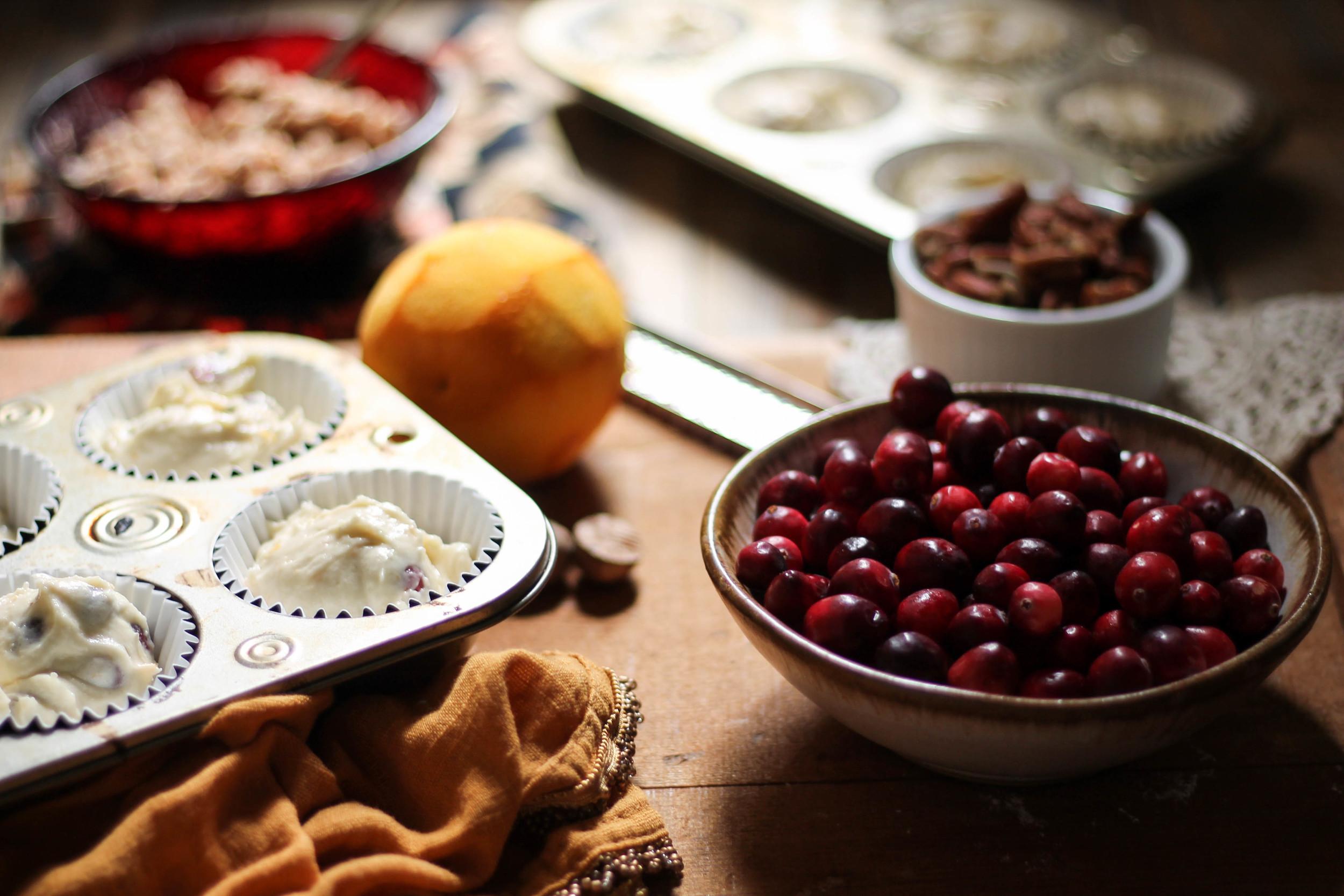Cranberry Orange Muffins with Pecan Cinnamon Streusel {The Pedantic Foodie}