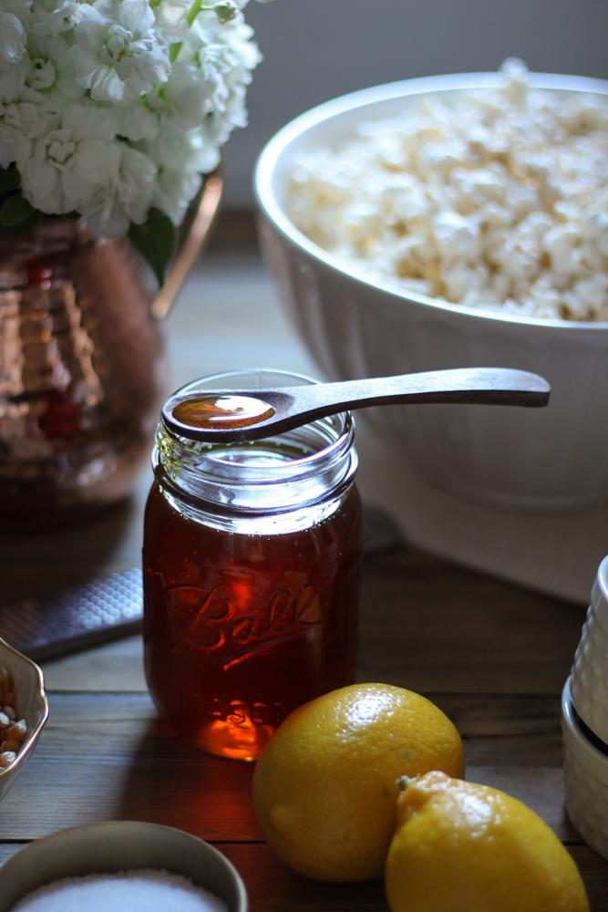 Honey, Lemon & Sea Salt Caramel Corn {Pedantic Foodie}