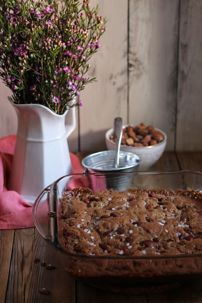 Butterscotch Blondies with Smoked Almonds & Sea Salt {Pedantic Foodie}