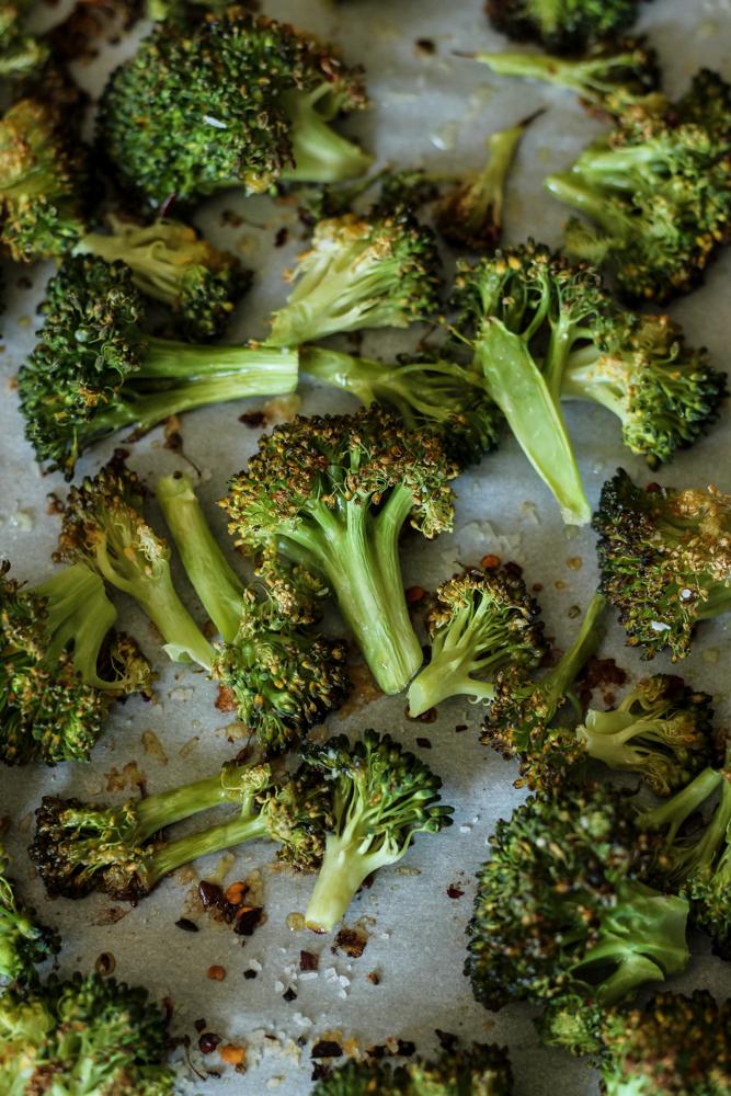 Baked Potatoes with Roasted Broccoli, Gouda Cream Sauce & Panko {Pedantic Foodie}