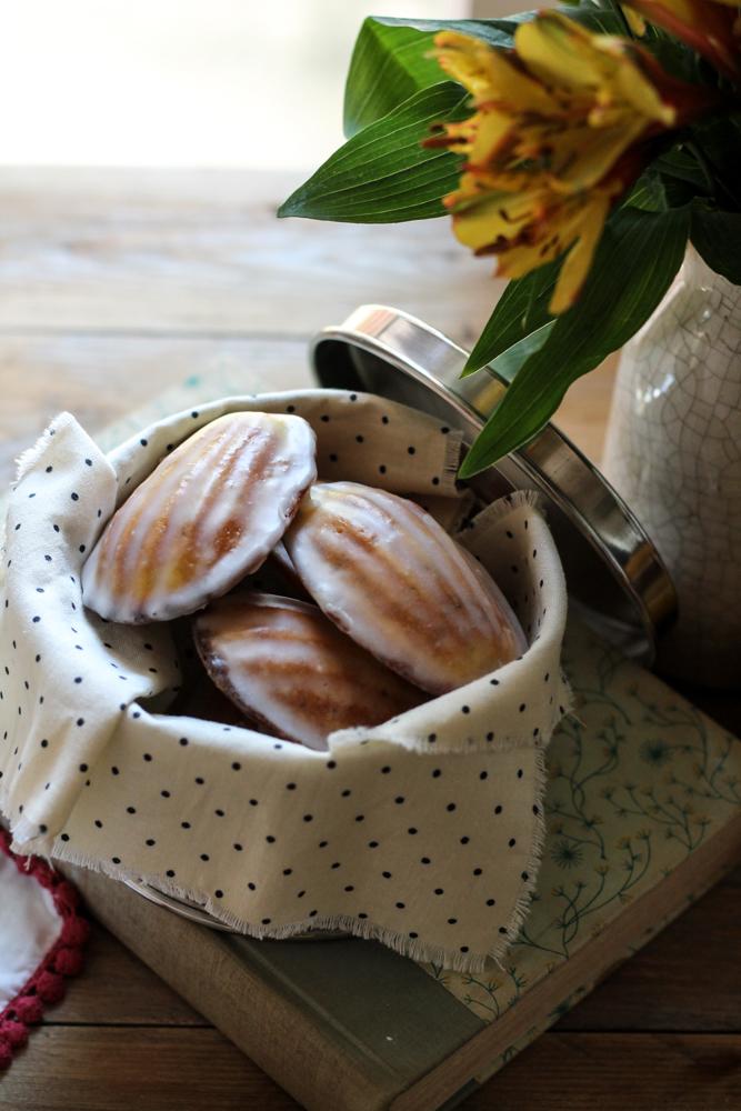 Lemon Poppyseed Madeleines {Pedantic Foodie}