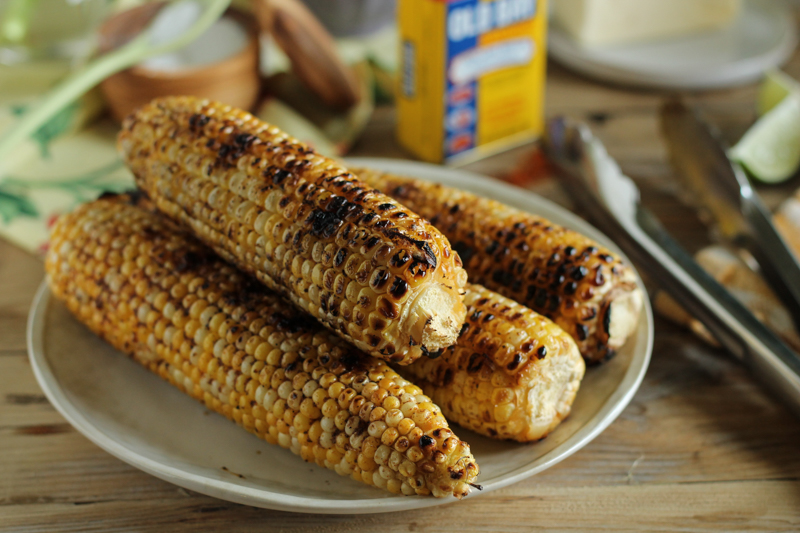 The Bestest Grilled Sweet Corn with Sun-Dried Tomato Butter {Pedantic Foodie}