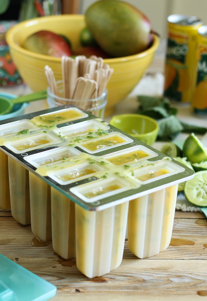 Mango & Mint Ginger Pops {Pedantic Foodie}