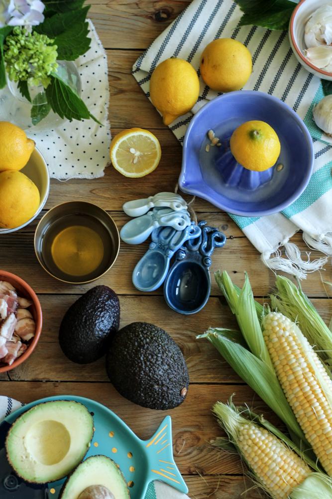 Charred Corn & Bacon Guacamole {Pedantic Foodie}