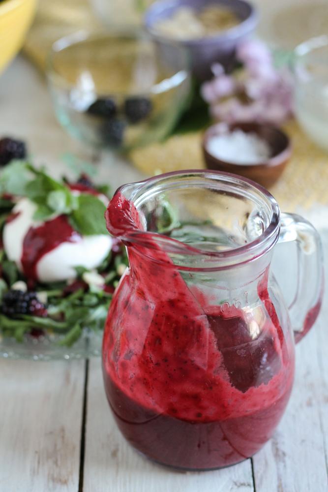 Blackberry Balsamic Vinaigrette {Pedantic Foodie}