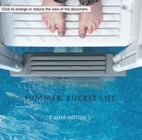 Summer Bucket List {Pedantic Foodie}