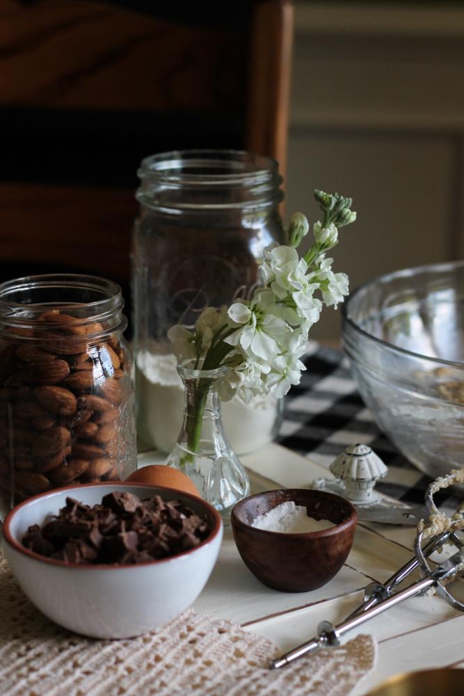 Sea Salt & Almond Chocolate Chip Cookie Peanut Butter S'mores {Pedantic Foodie}