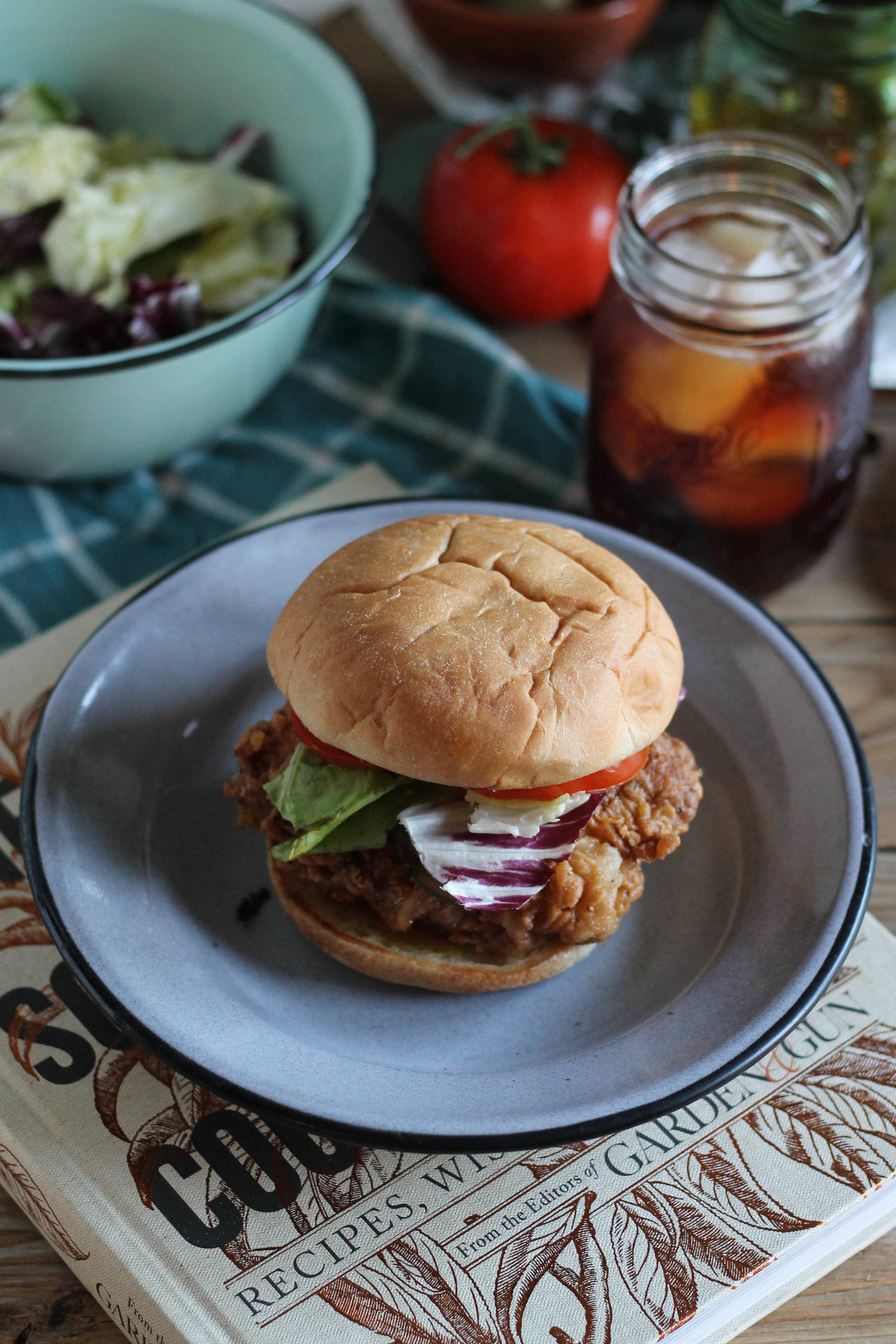 Fried Chicken Sandwiches with The Southerner's Cookbook {Pedantic Foodie}
