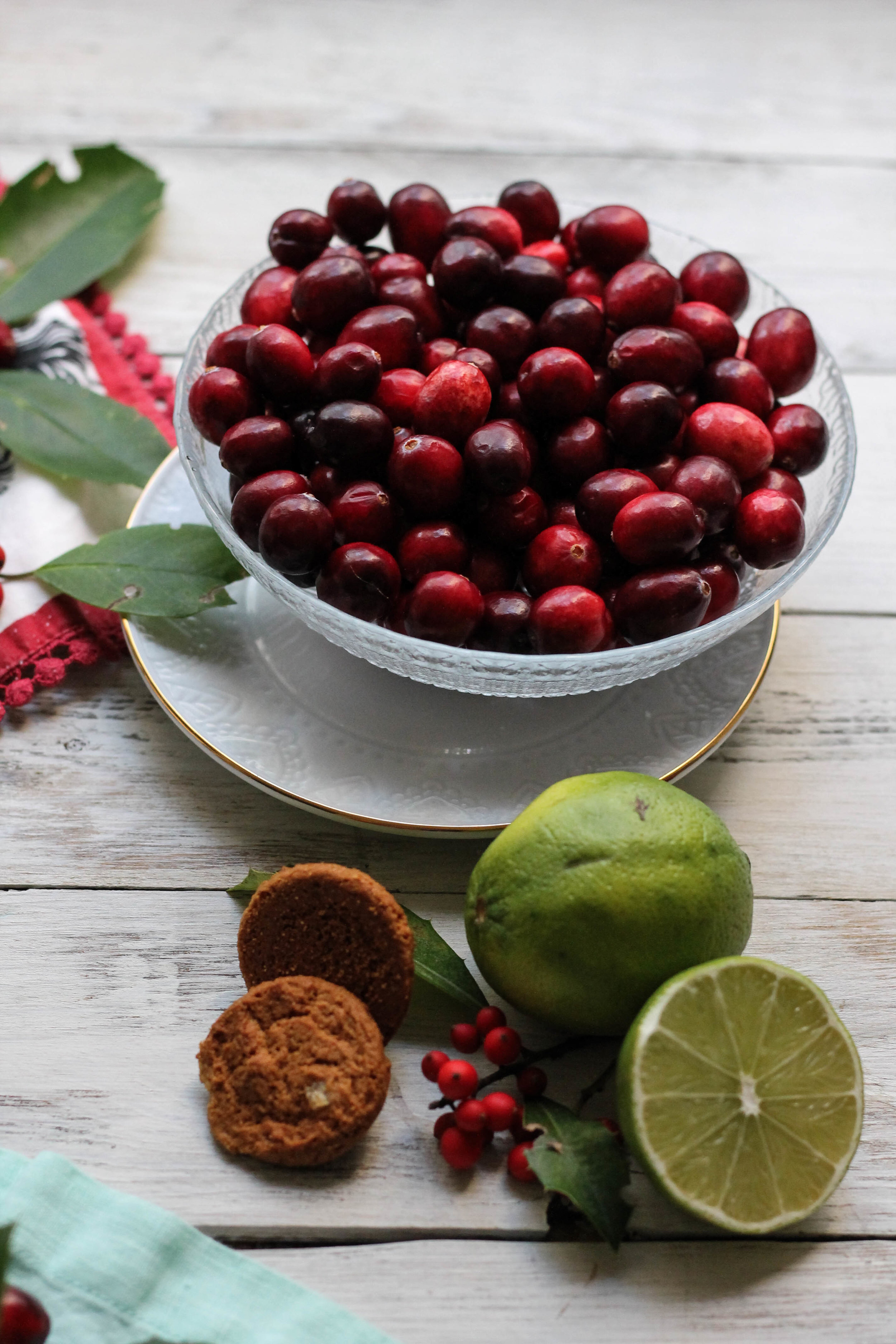 Cranberry Lime Pie with Gingersnap & Pecan Crust + A Gluten-Free Version {Pedantic Foodie}