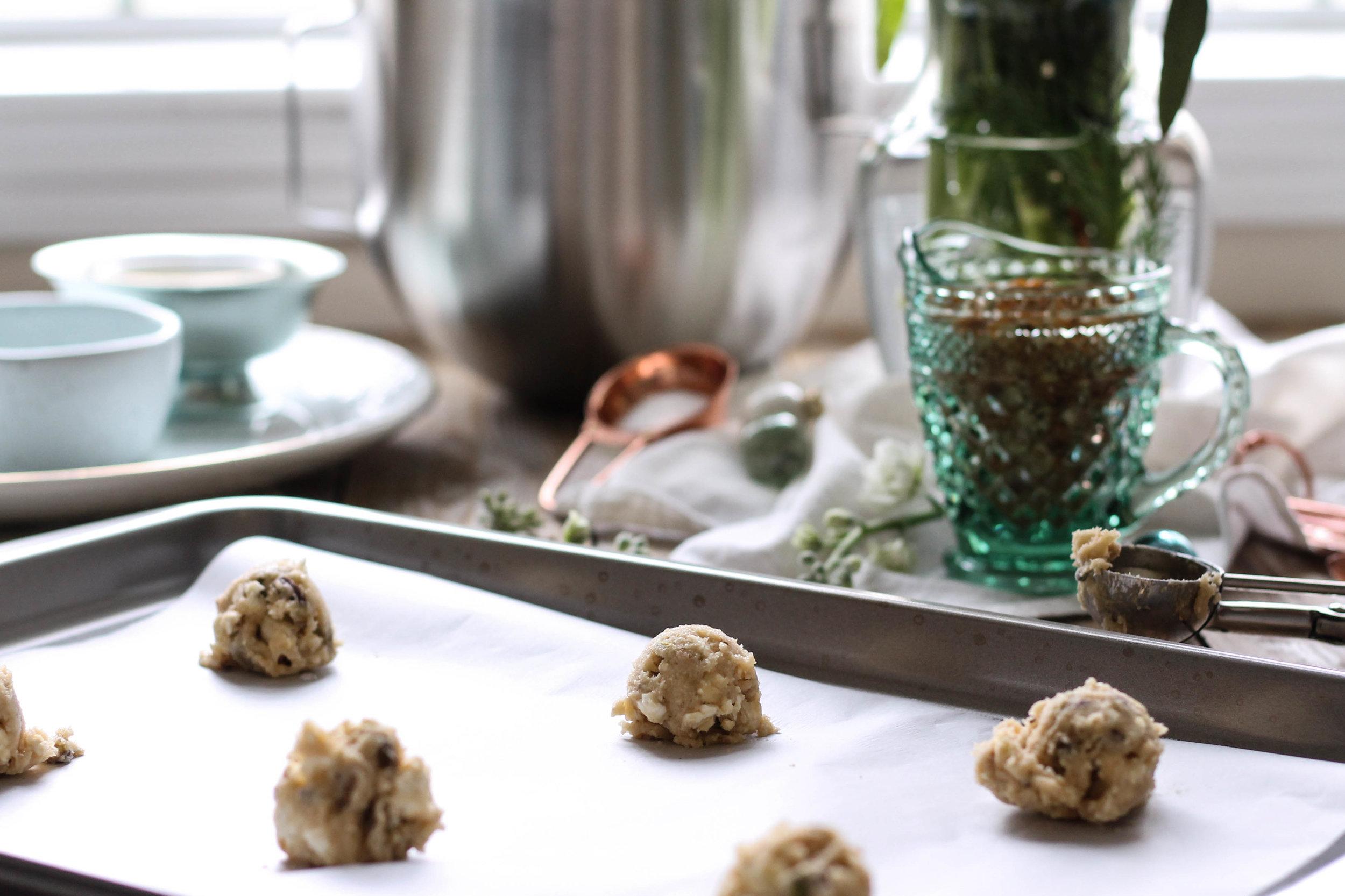 Brown Butter Pistachio Popcorn Cookies {Pedantic Foodie}