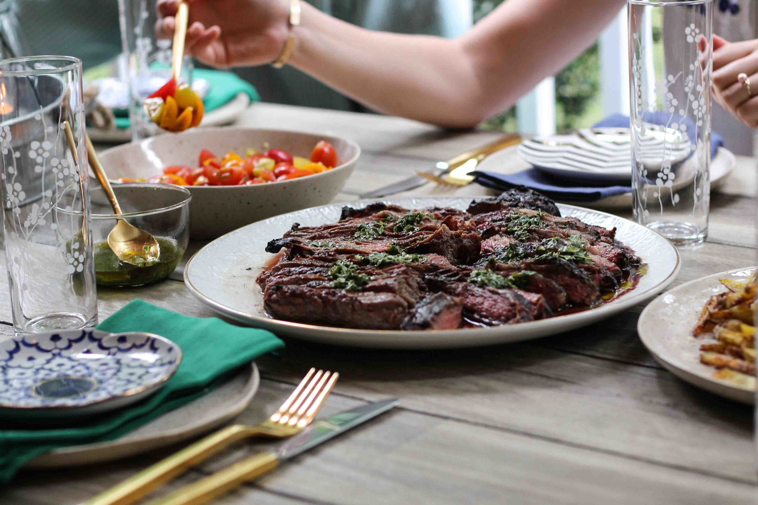 Summer Steak Frites // Dining Outdoors with Cost Plus World Market