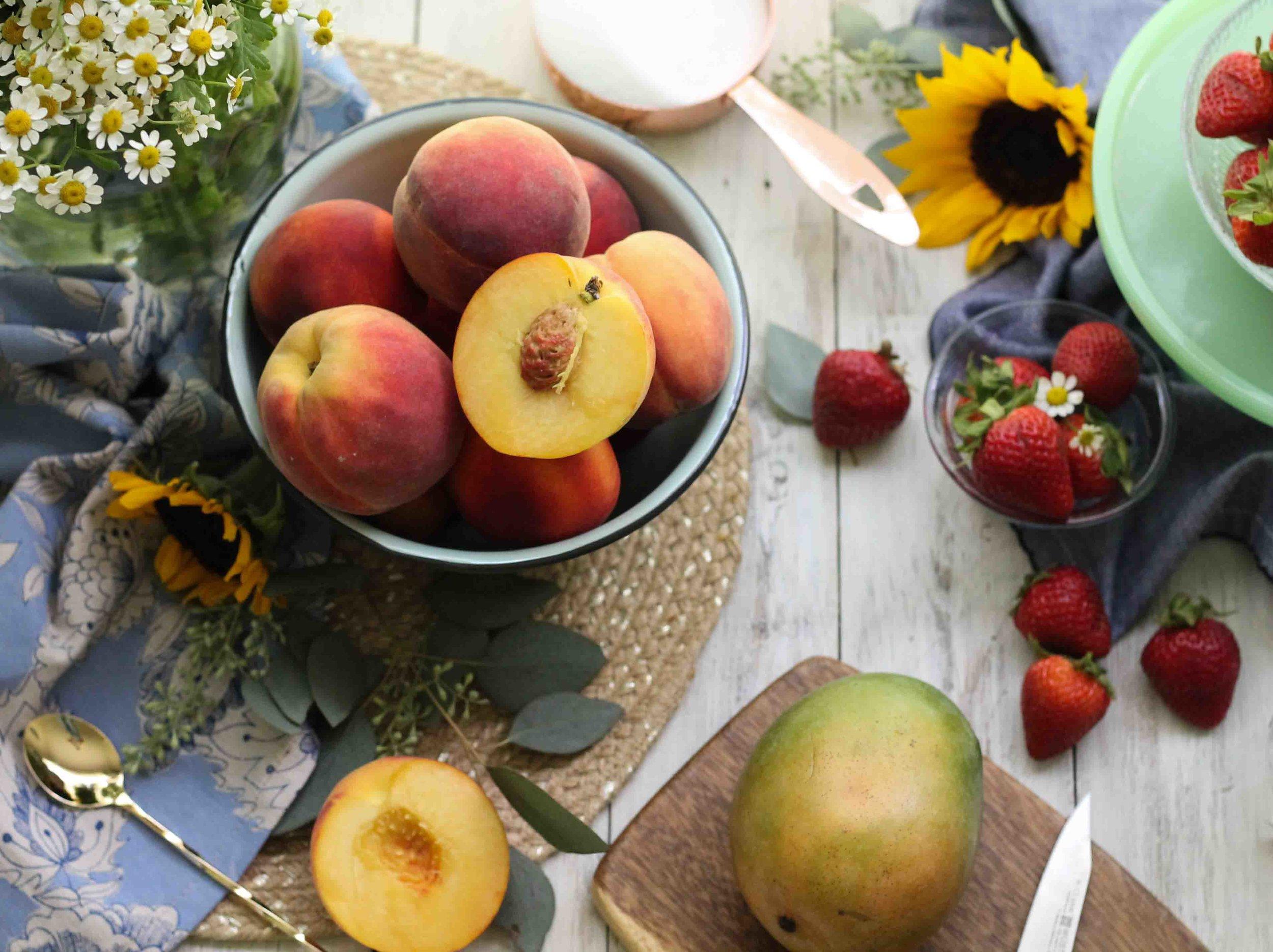 Easy Strawberry Peach Mango Jam {Pedantic Foodie}