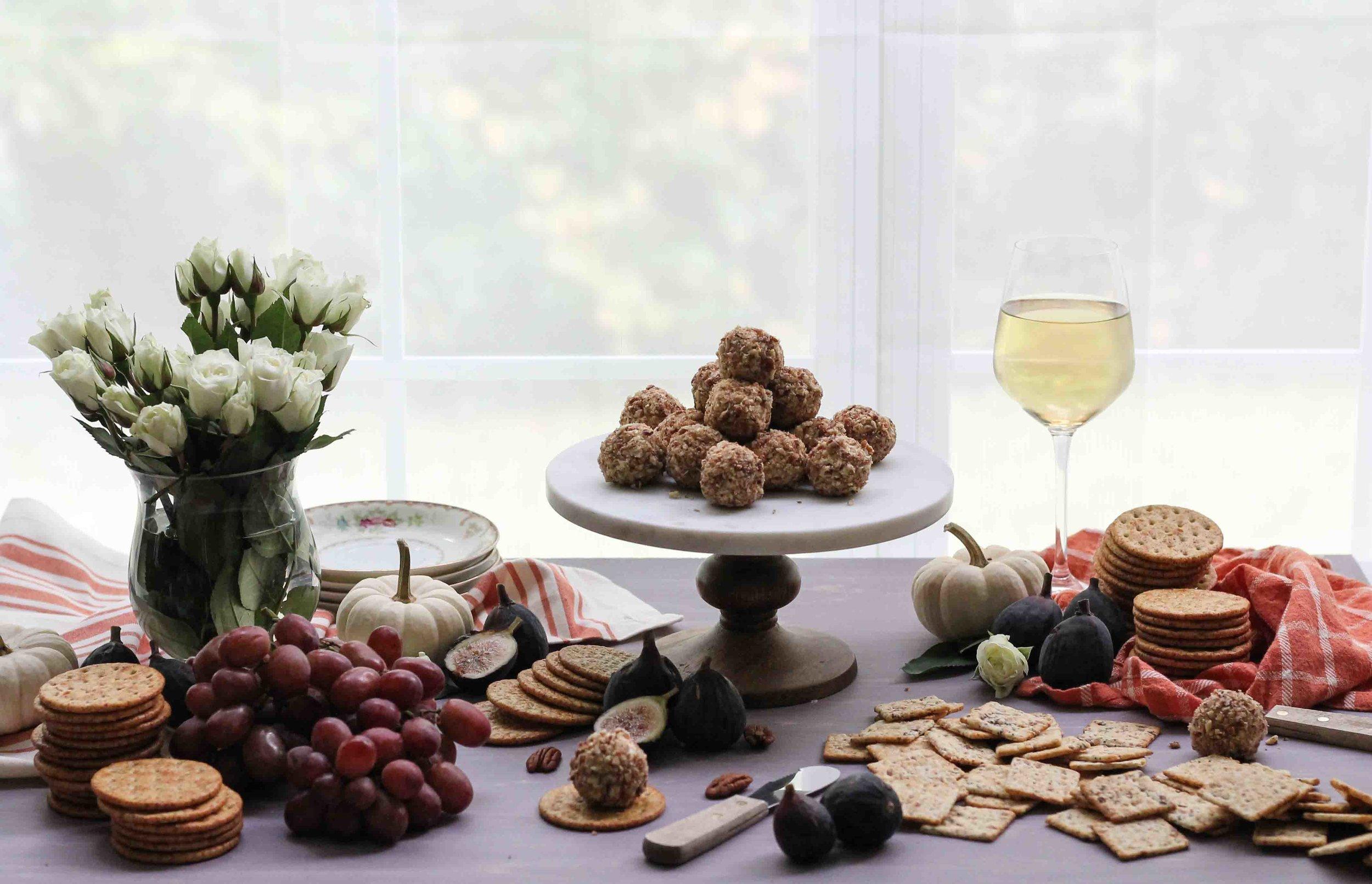 Stilton & Pecan Truffles {Pedantic Foodie}