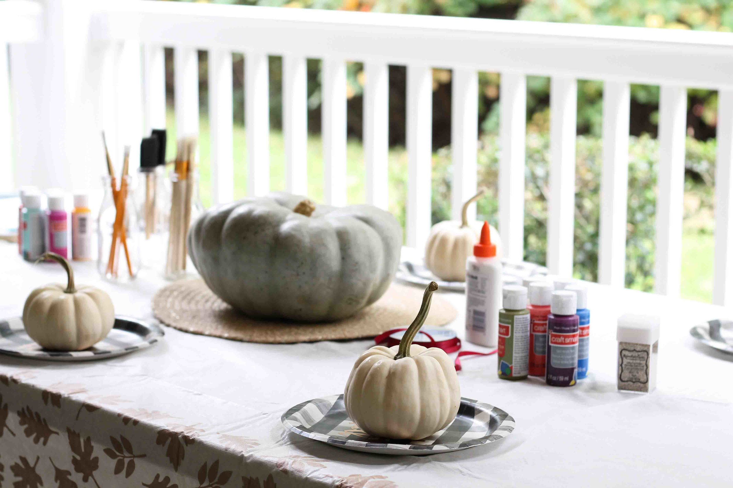 how to throw a pumpkin painting party {Pedantic Foodie}