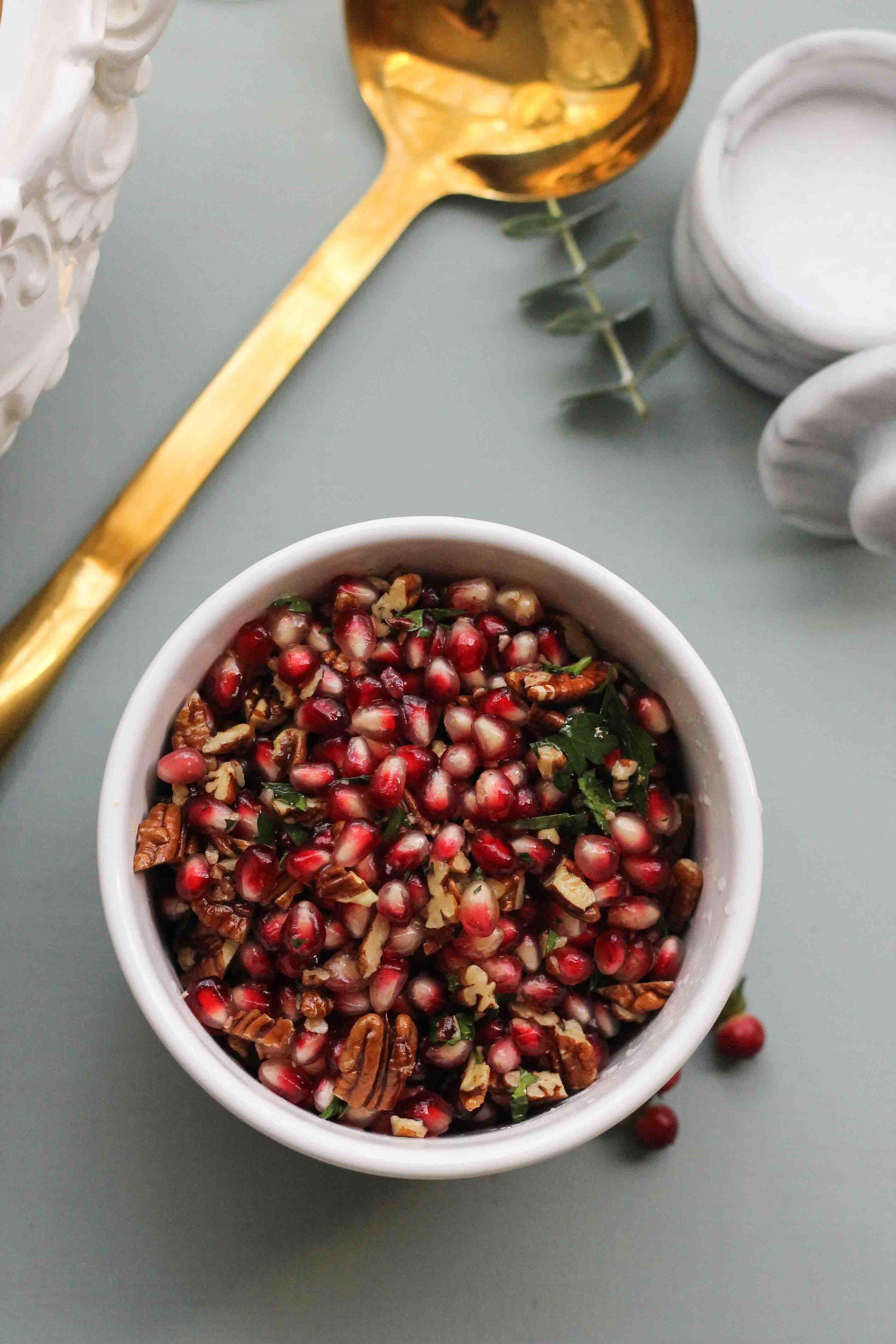 Brie Fondue with Pomegranate Relish {Pedantic Foodie}
