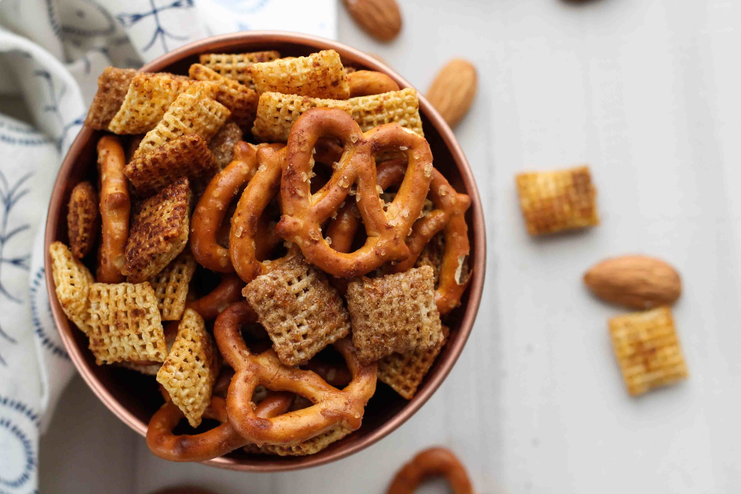 This sweet and savory take on classic chex mix combines warm spices and orange zest with soy and worcestershire - the perfect game day treat! [ www.pedanticfoodie.com ]